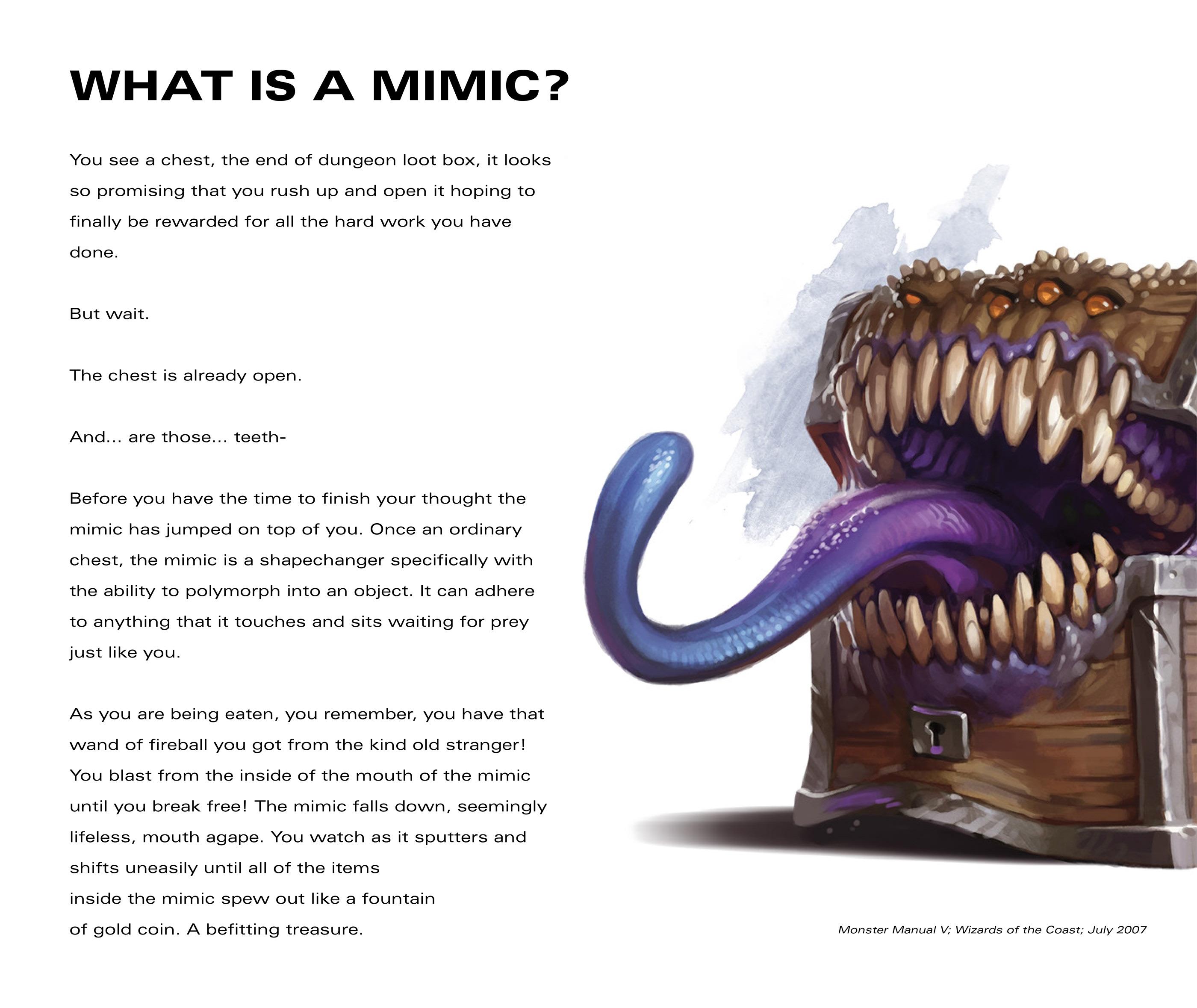 MIMIC - D&D DICE REBRAND on Behance