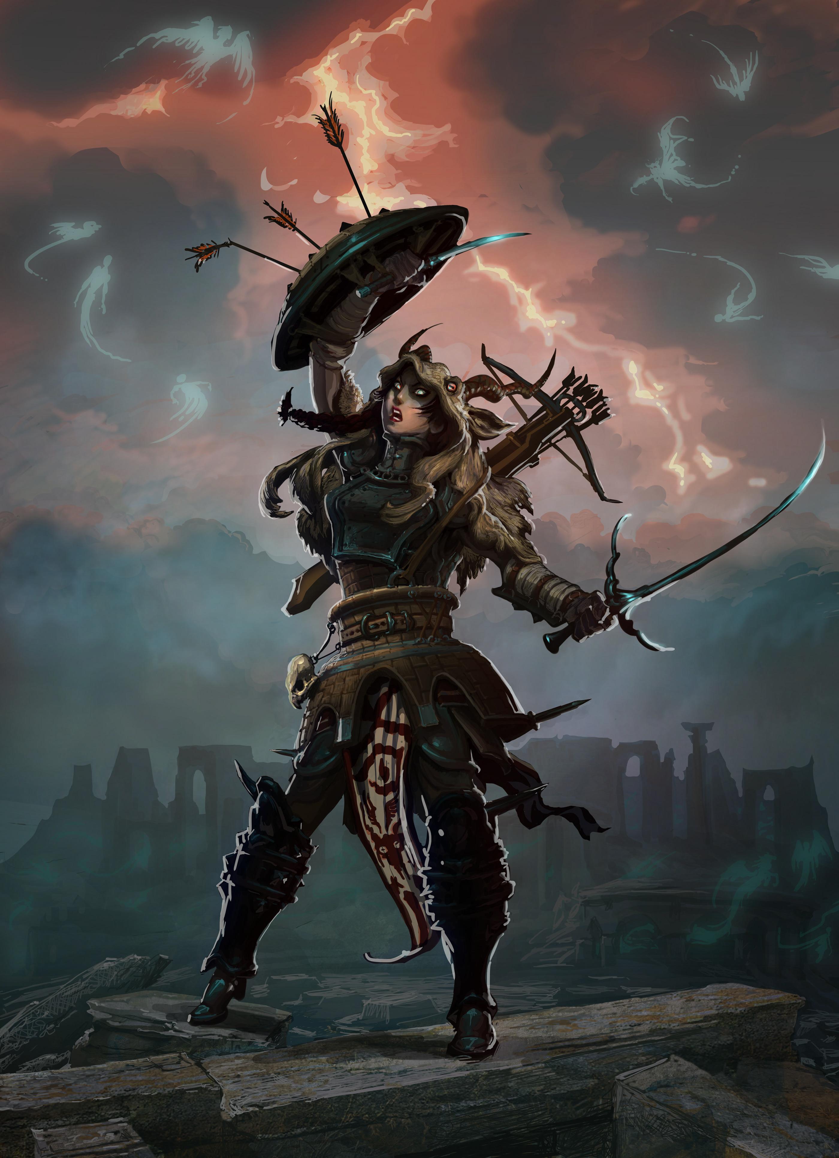 High fantasy character art test (Machine Zone) on Behance
