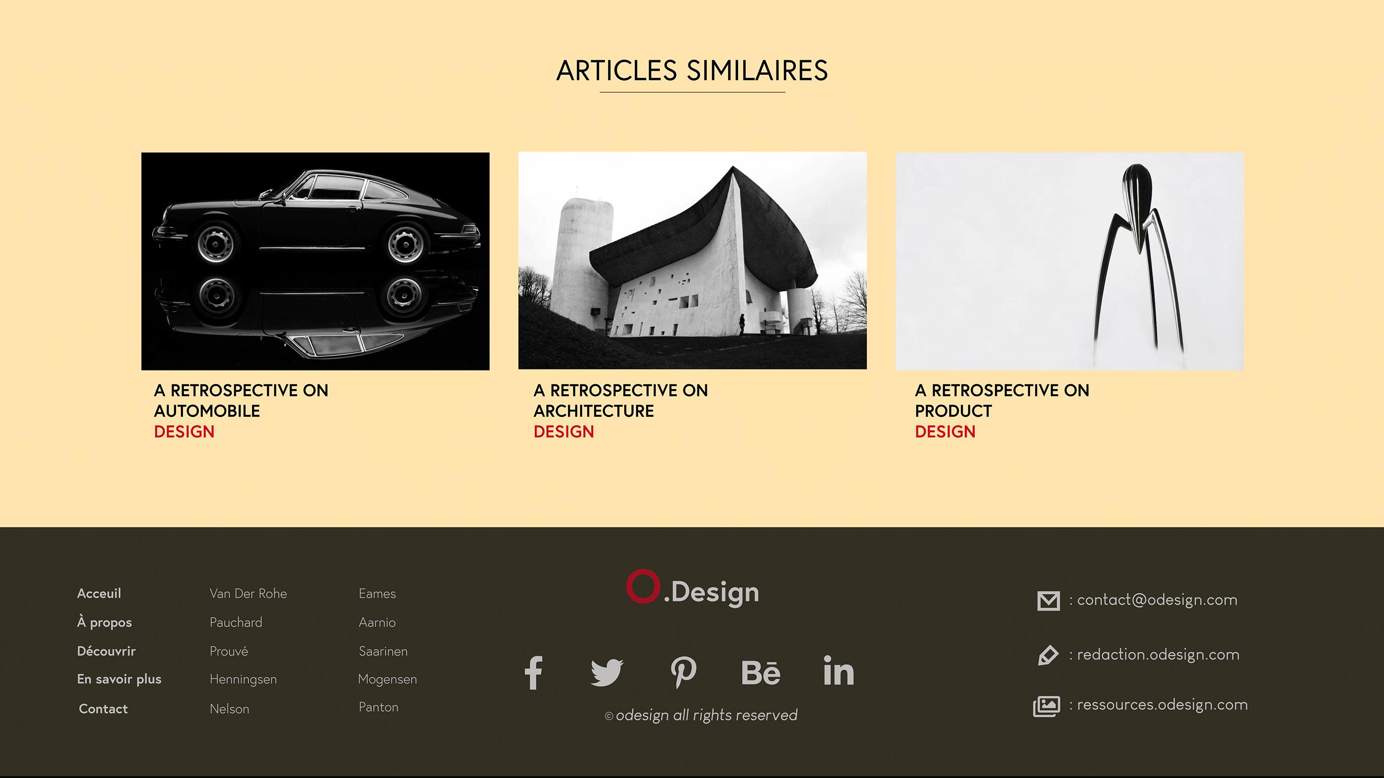 O.Design webdesign on Behance