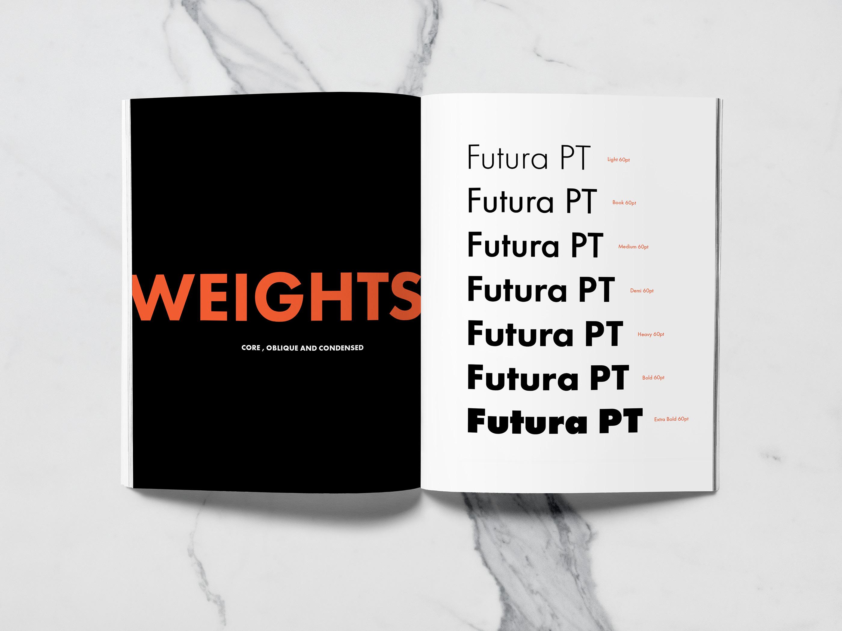 Futura PT- A Type Specimen Book on Behance