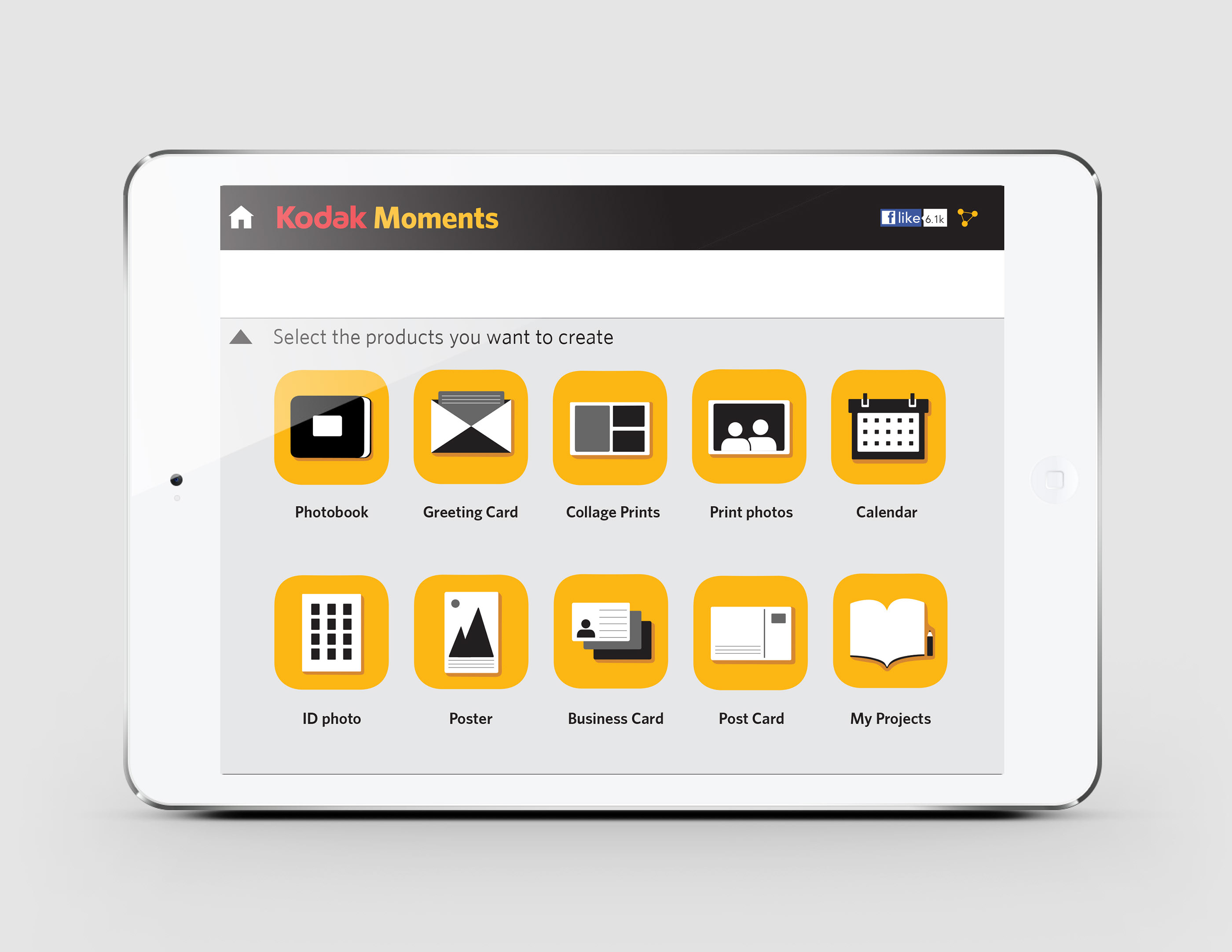 Kodak Moments App UI Design on Behance