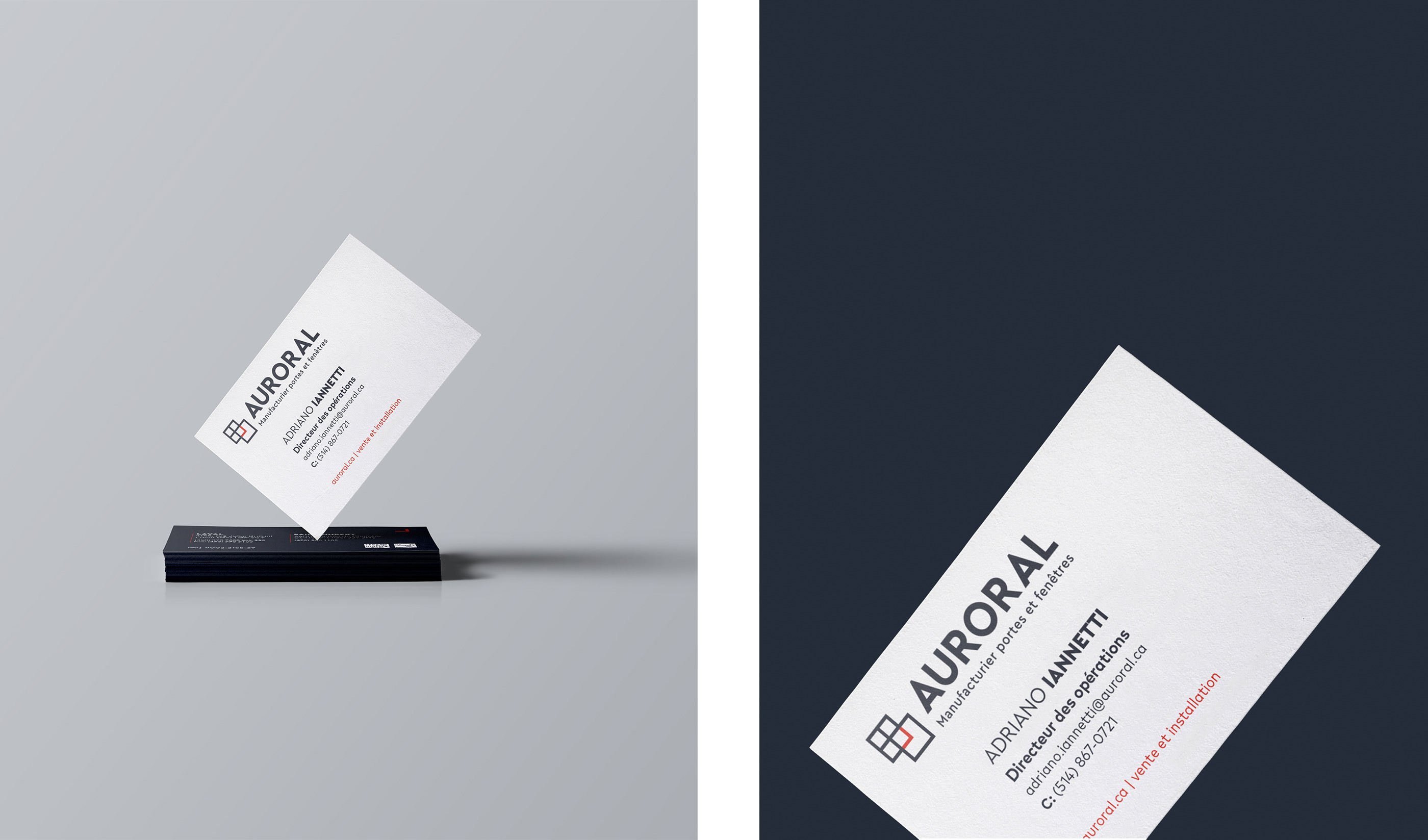 Porte Et Fenetre Auroral auroral | rebranding a 20+ years old business on behance