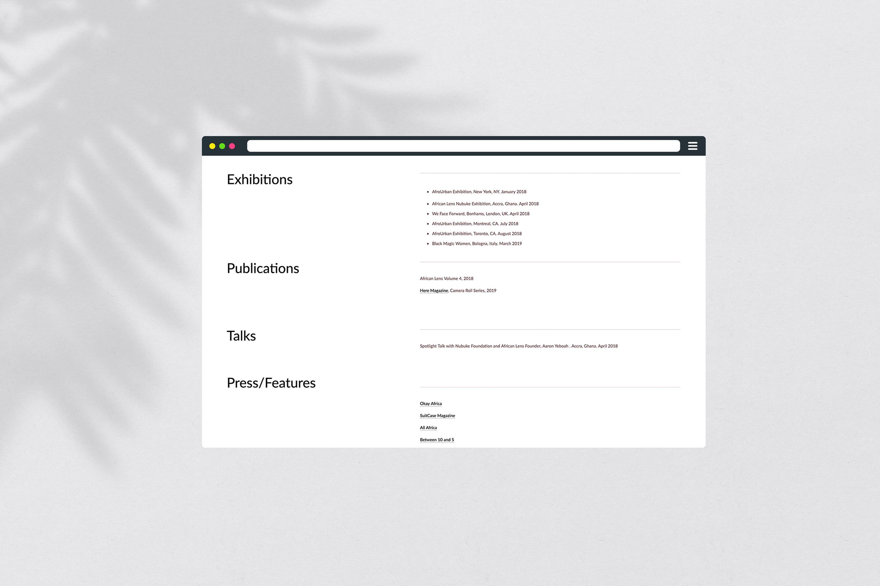 Jessica Sarkodie | branding & web design on Behance