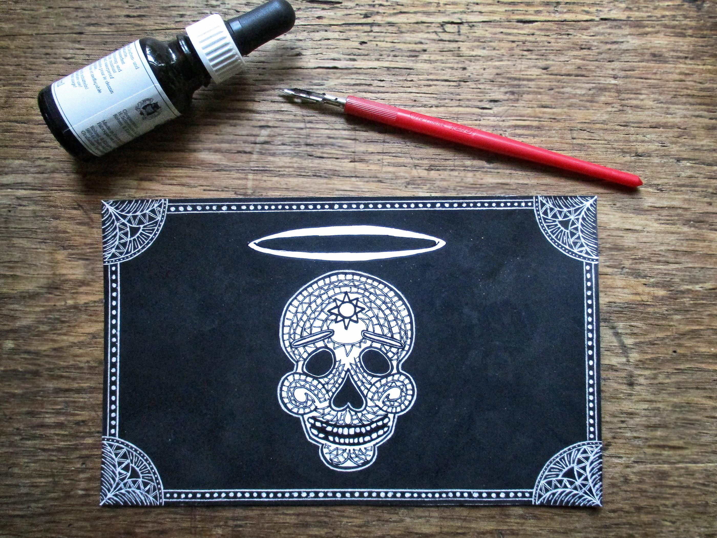 Dia De Los Muertos Skull Business Card Branding On Behance