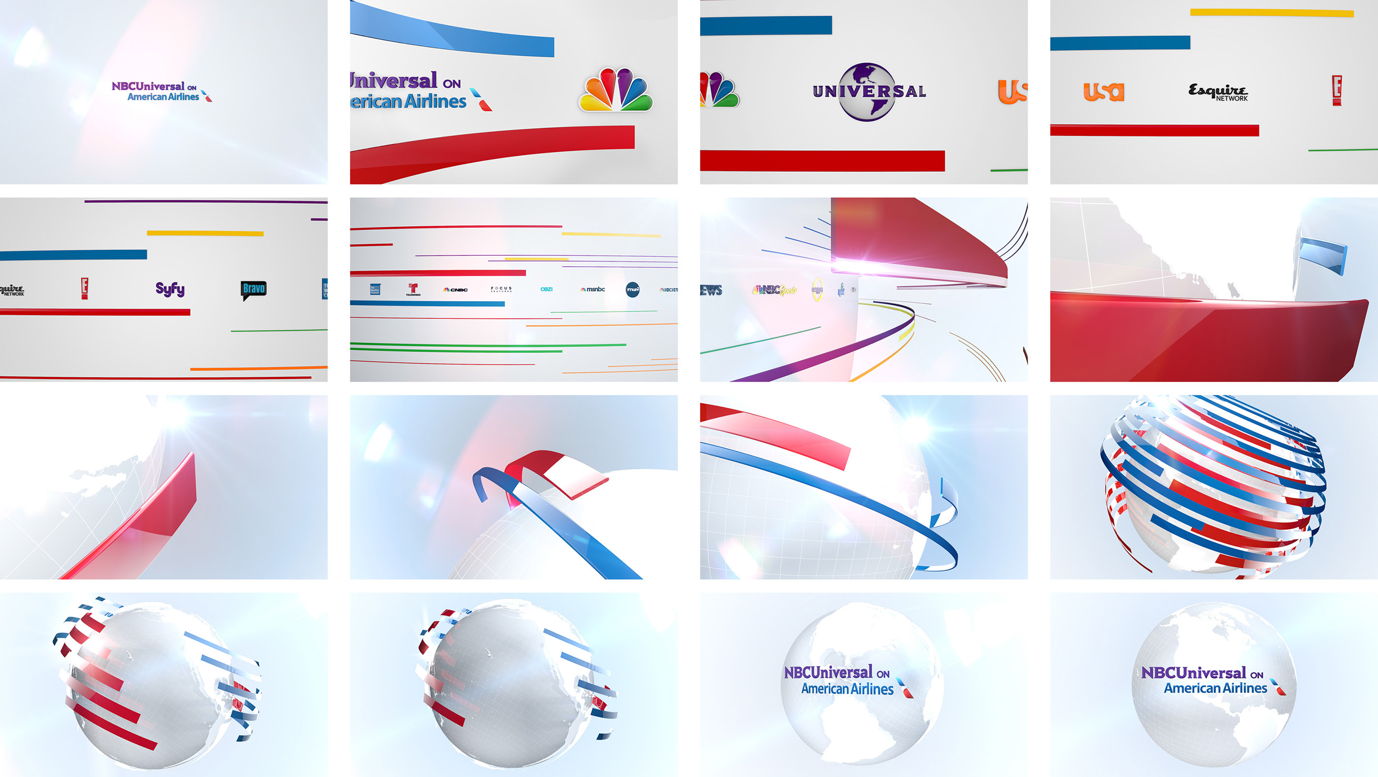 NBCUniversal on American Airlines | In-Flight Graphics on