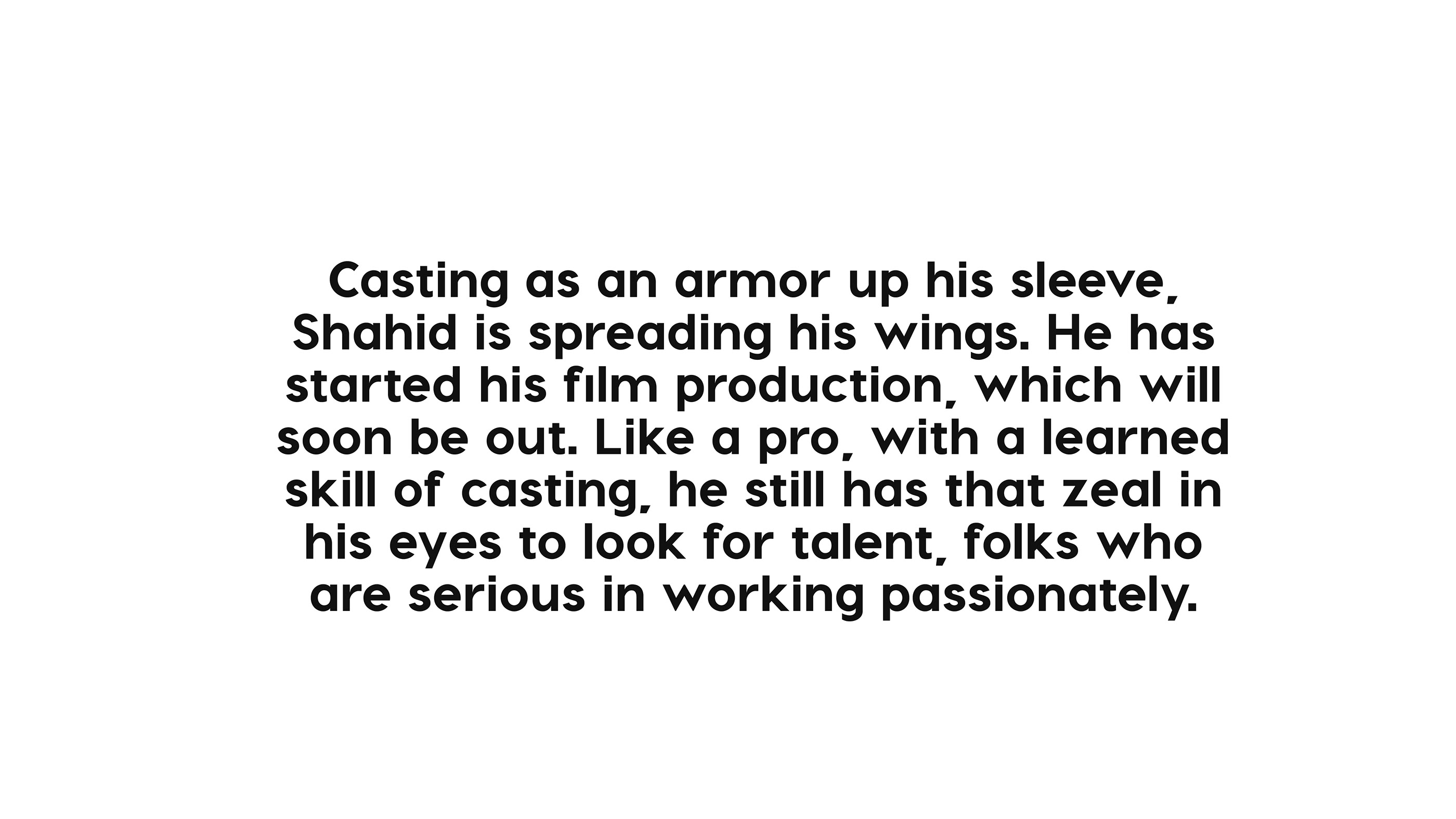 SHAHID HASAN Casting Director Profile on Behance