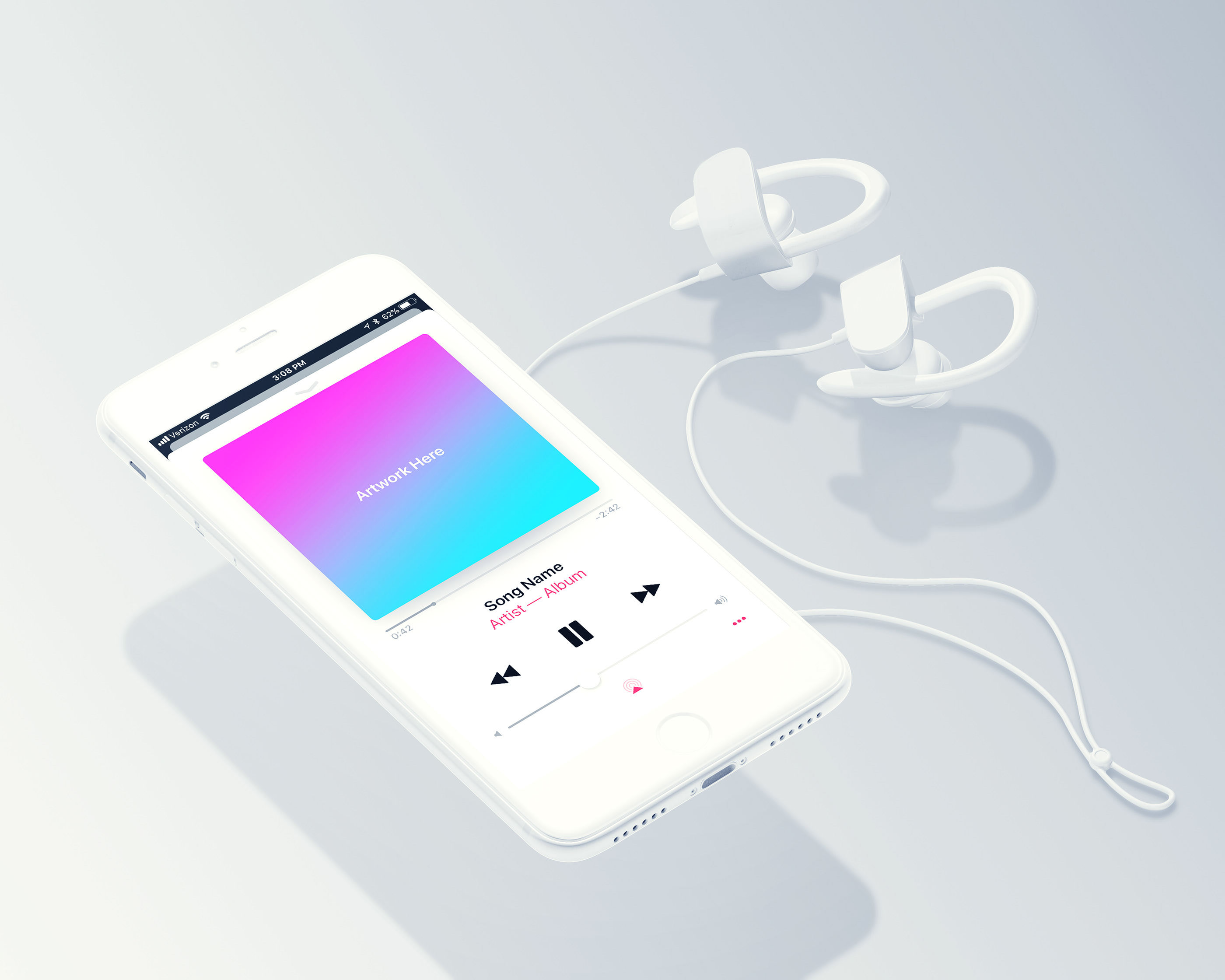 Free Spotify & Apple Music Mockup on Behance