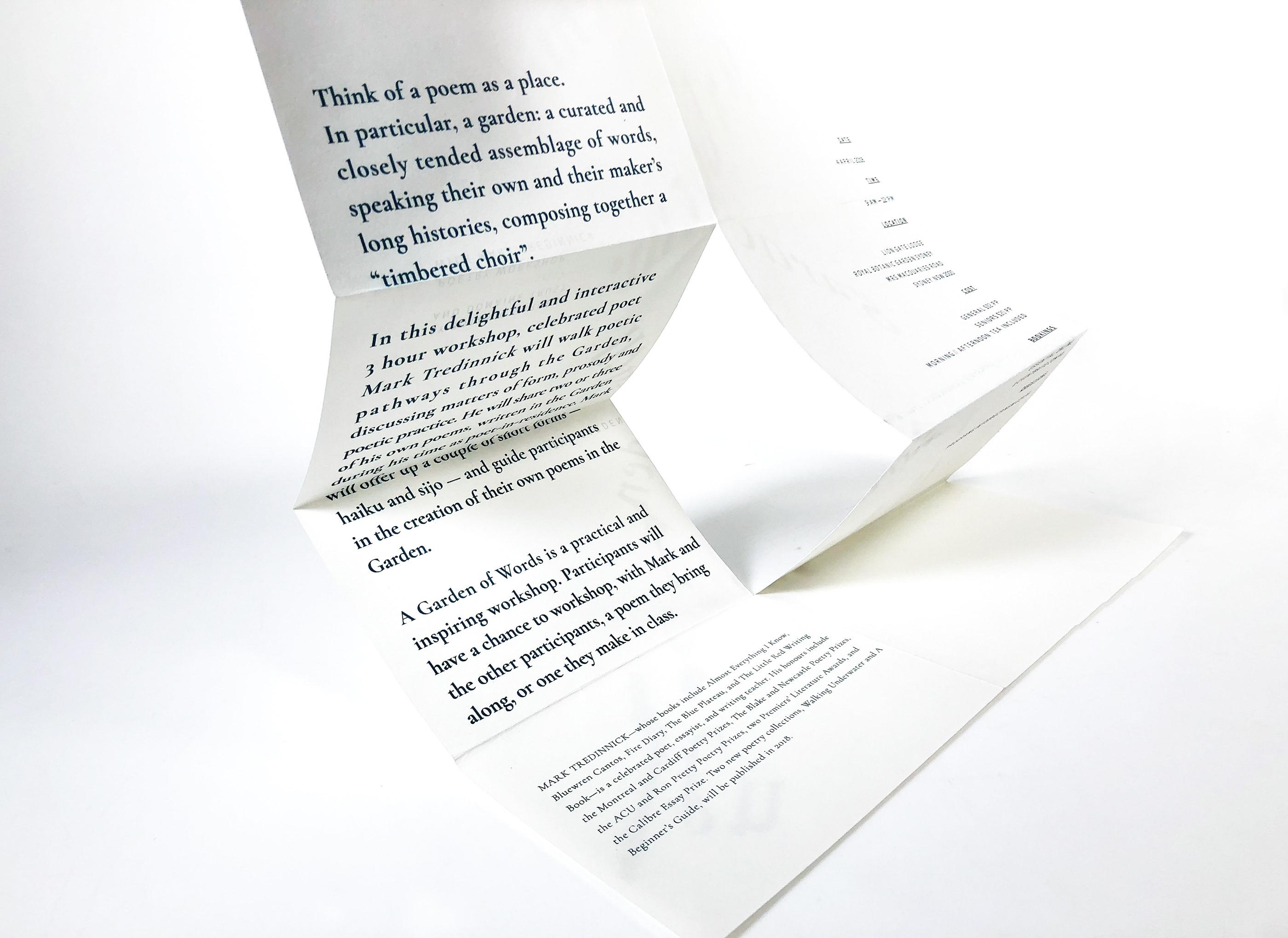 The Garden Of Words Poster Brochure On Behance