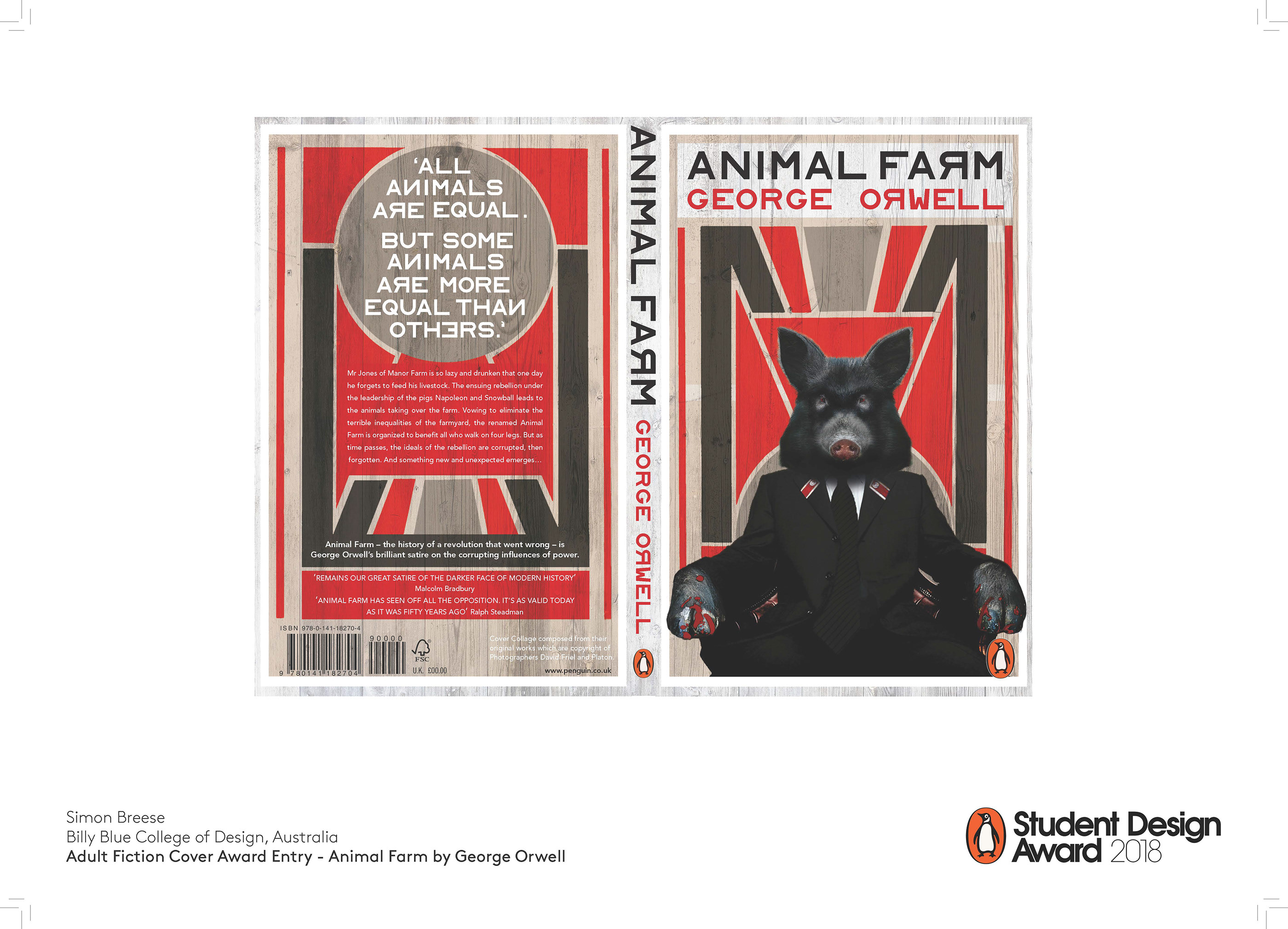 Animal Farm Book Cover Design On Behance