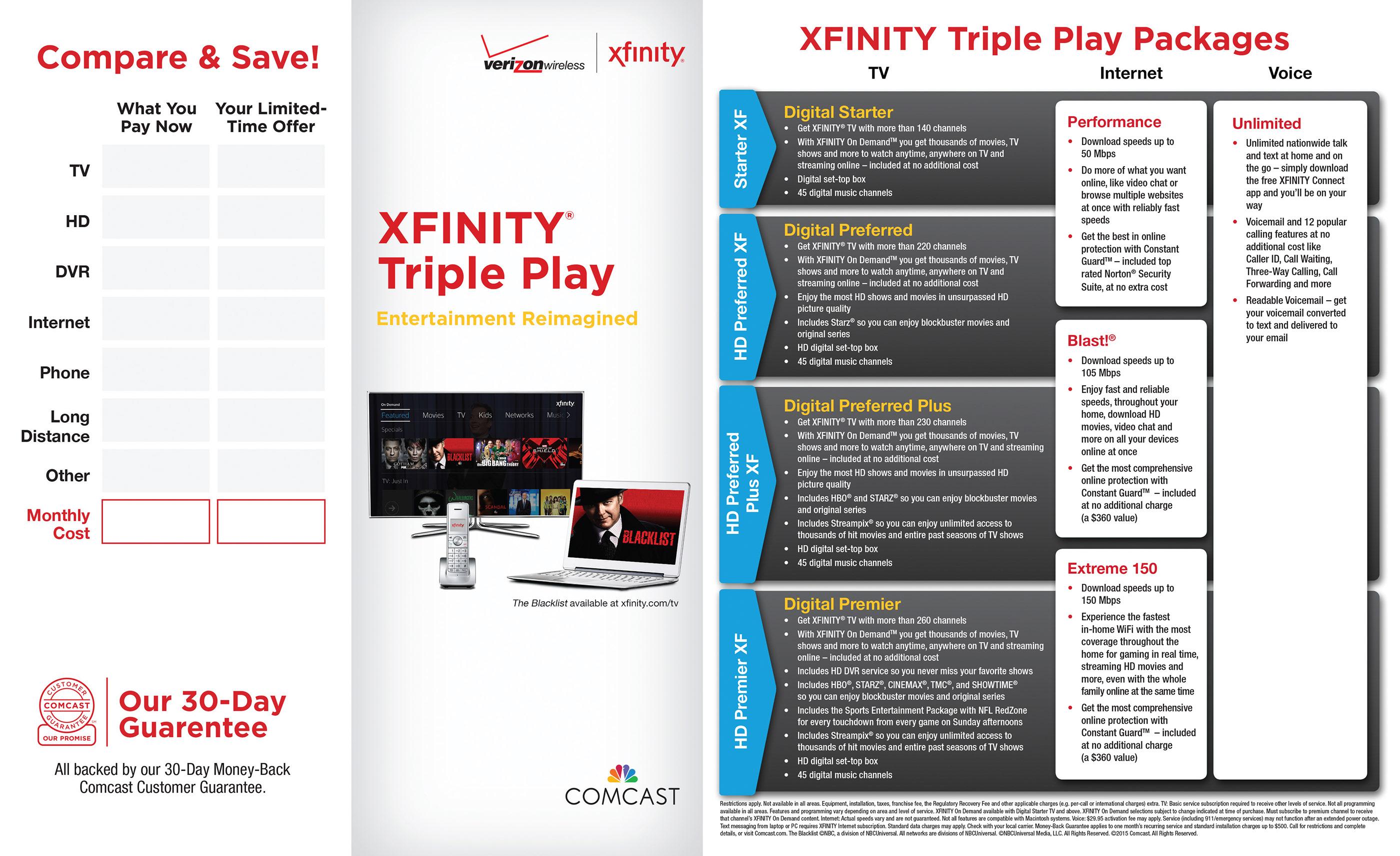 Xfinity Triple Play Brochure on Behance