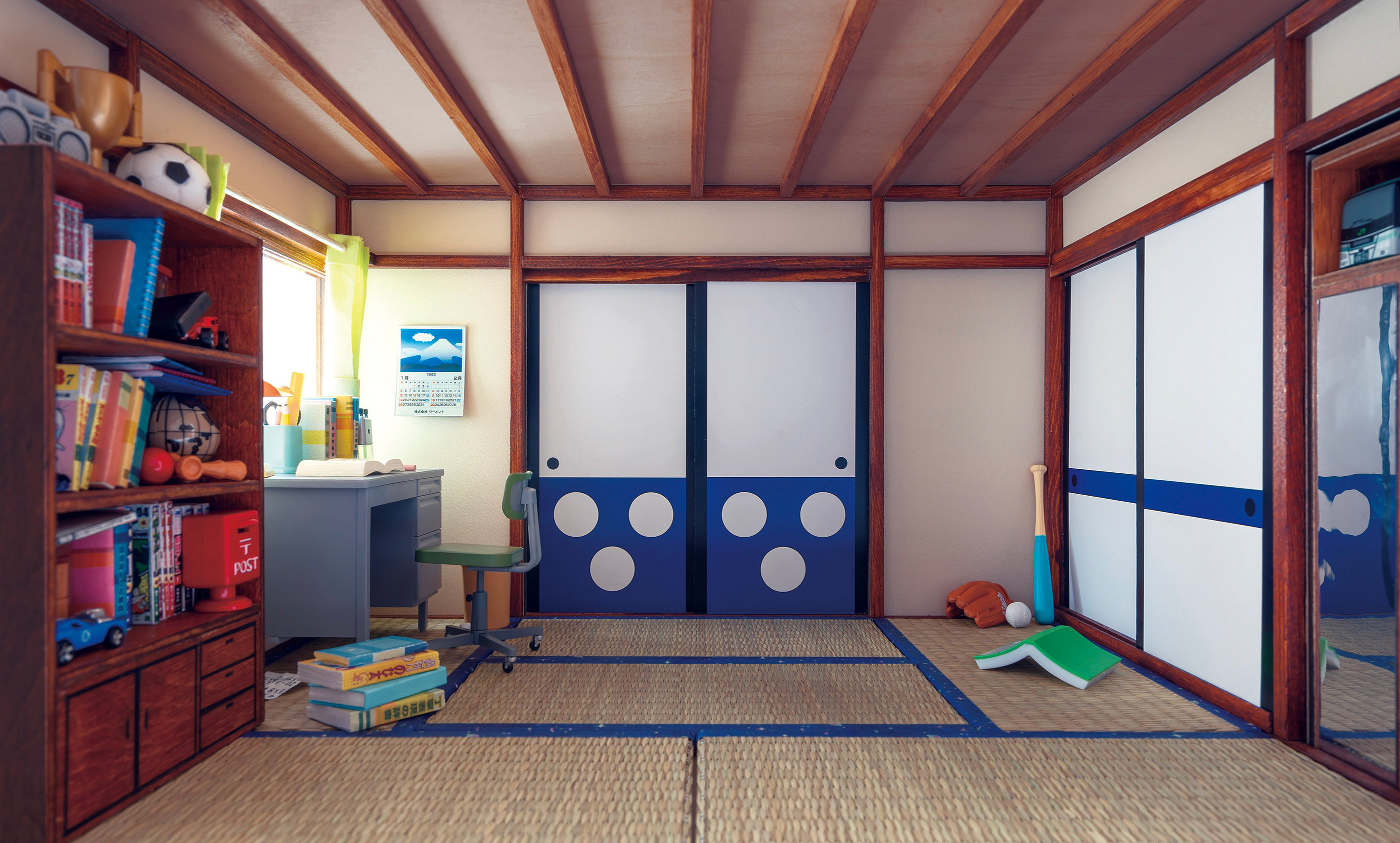 A Micro Room Of Doraemon Nobita On Behance