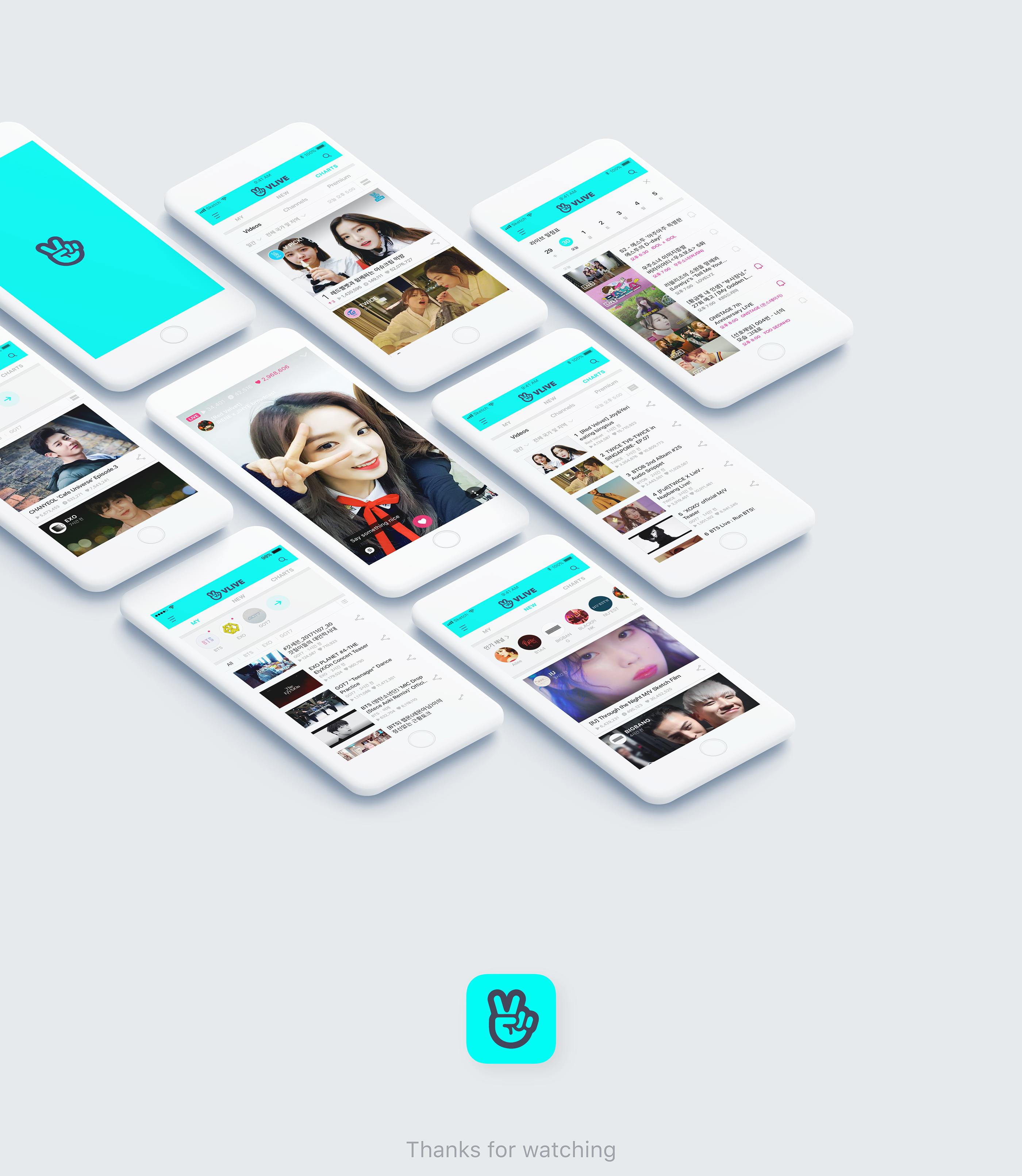 V LIVE - Broadcasting App on Behance