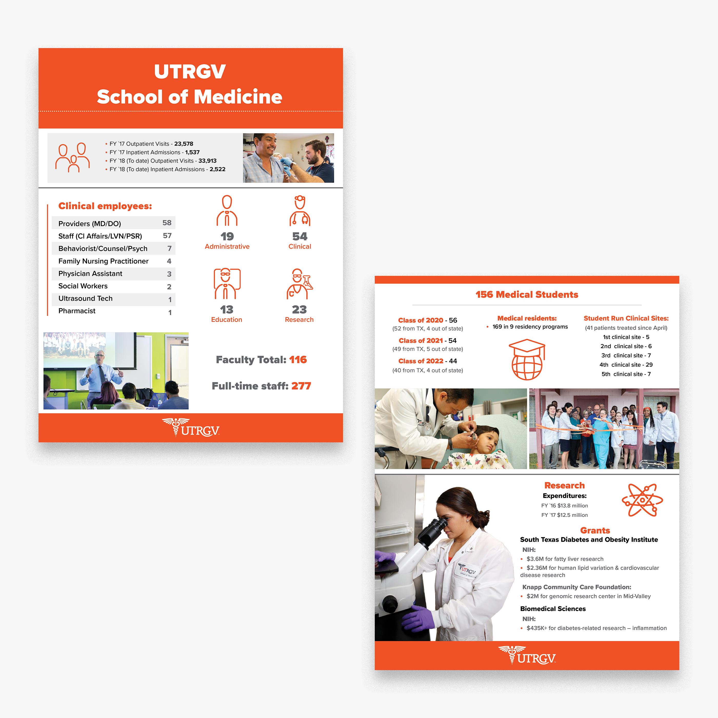 UTRGV School of Medicine Fact Sheet on Behance