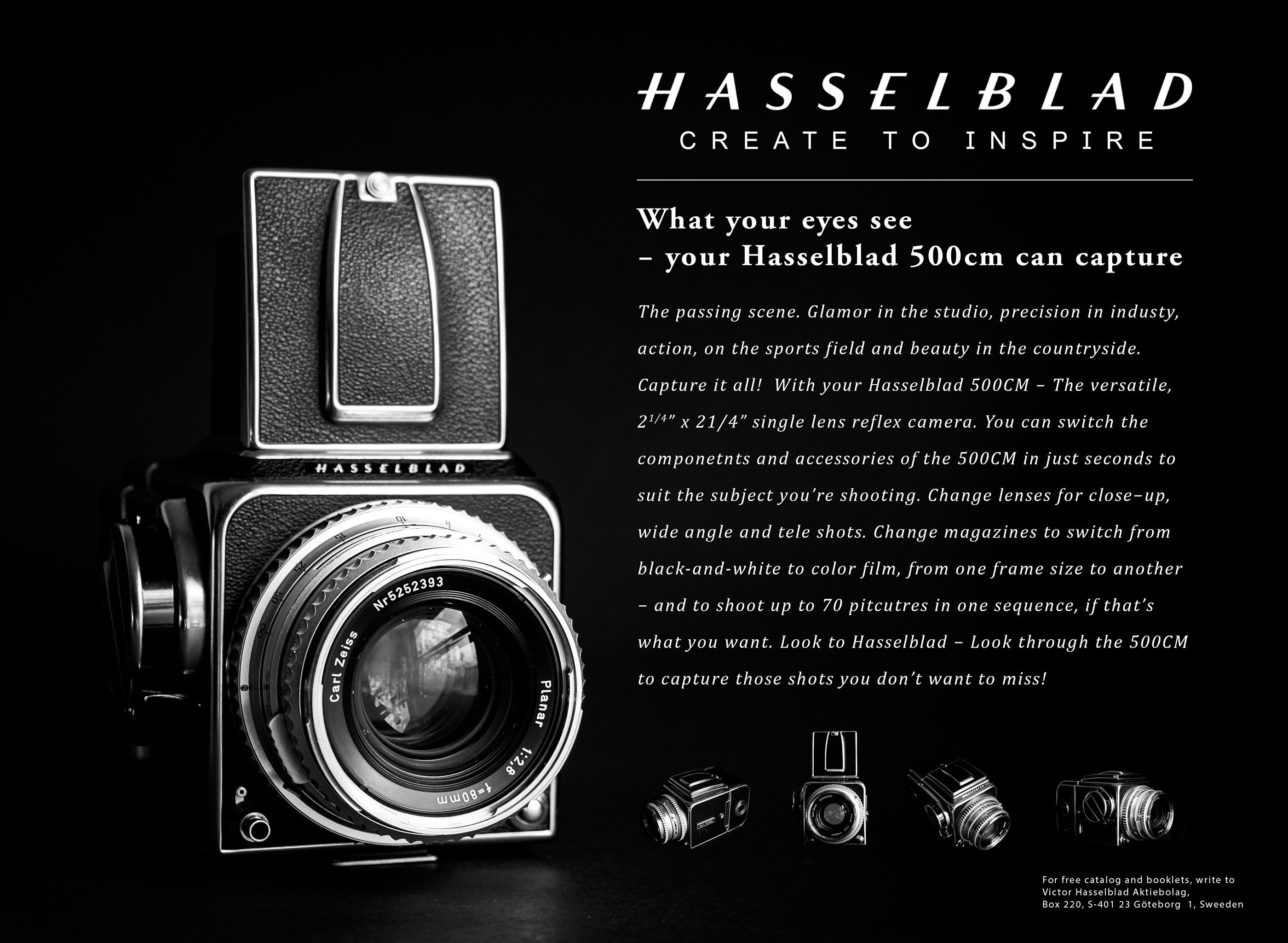 Recreated Hasselblad Advert on Behance