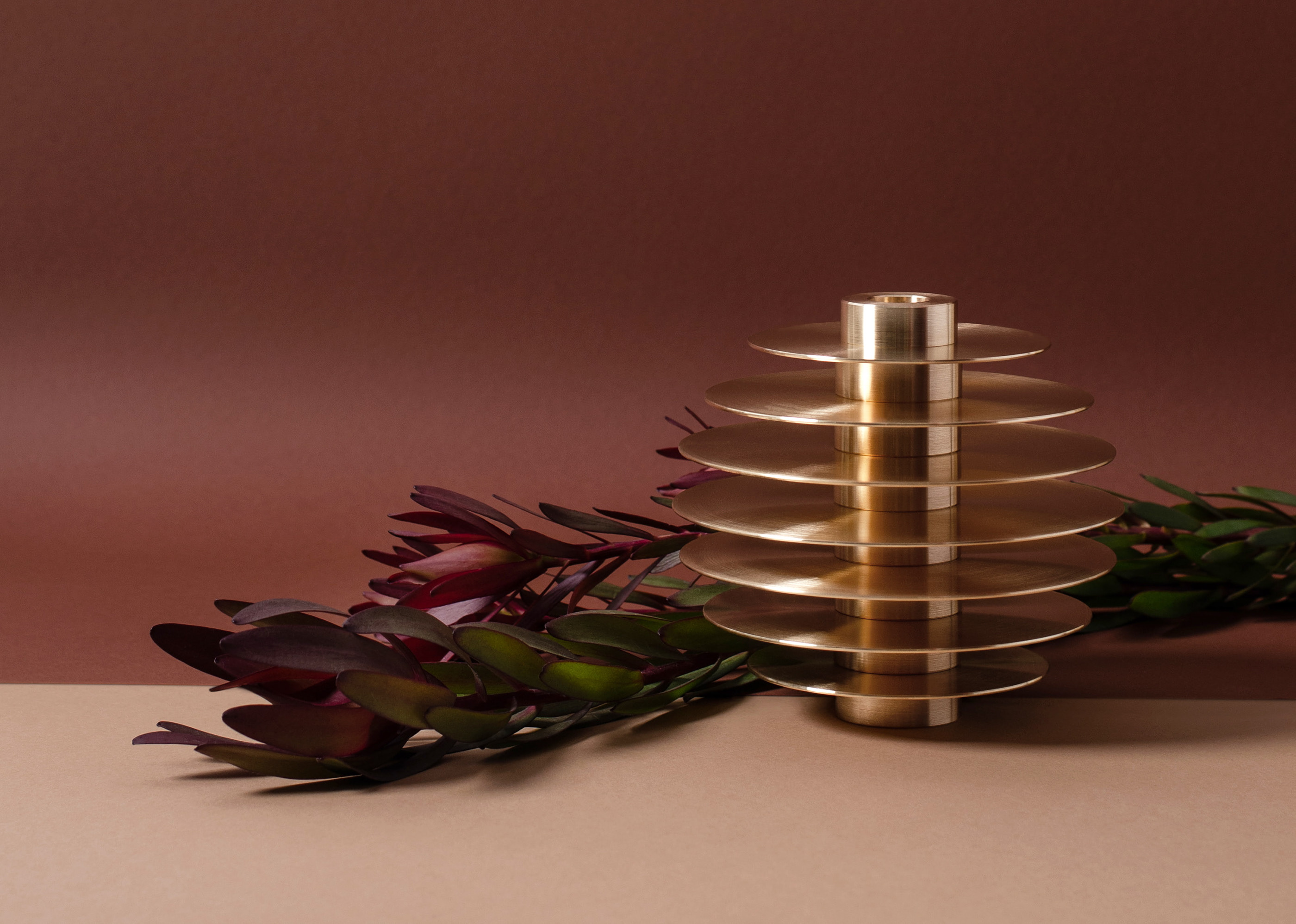 Set of seven candle holders ORB on Behance