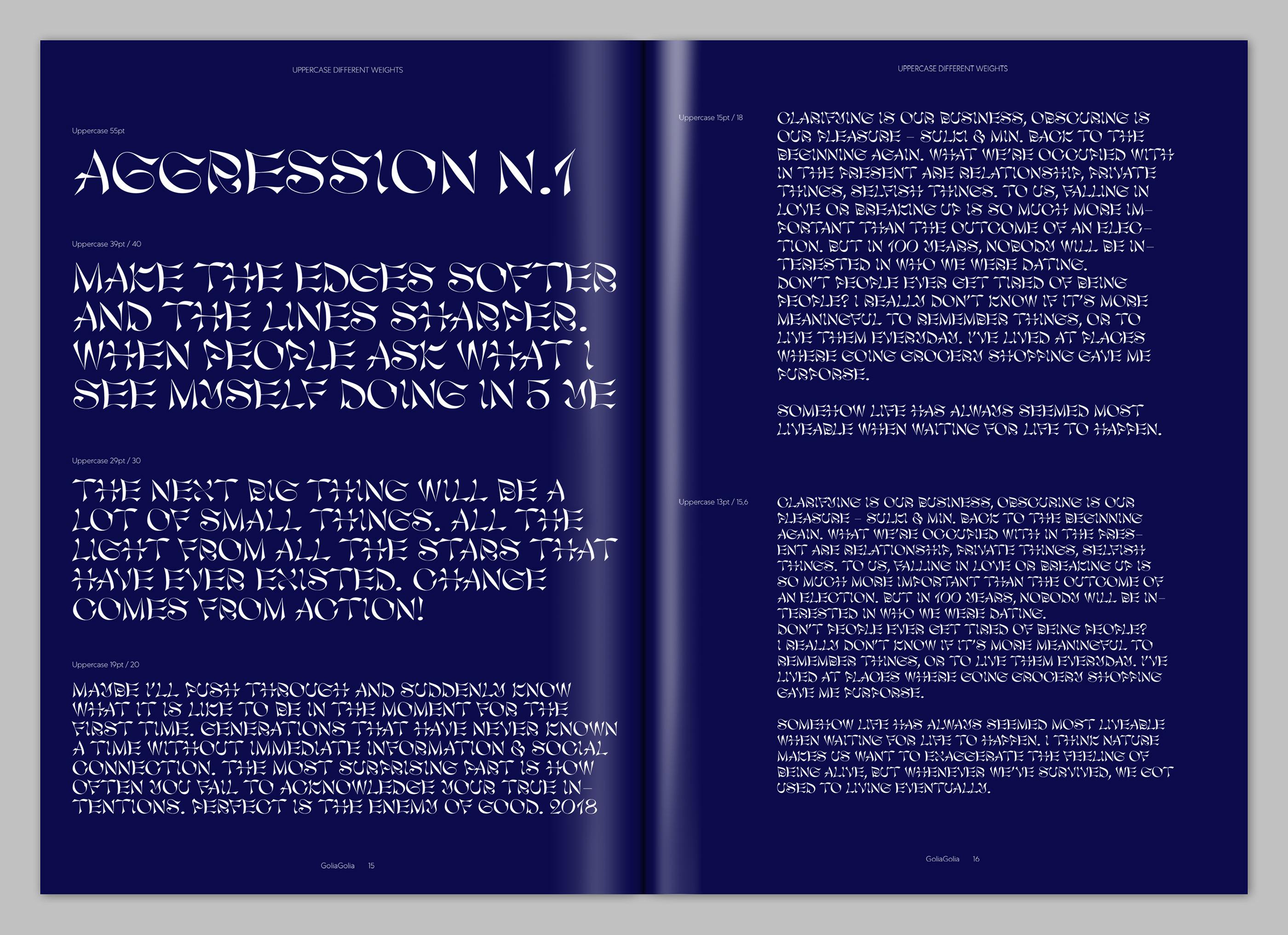 GoliaGolia Font on Behance