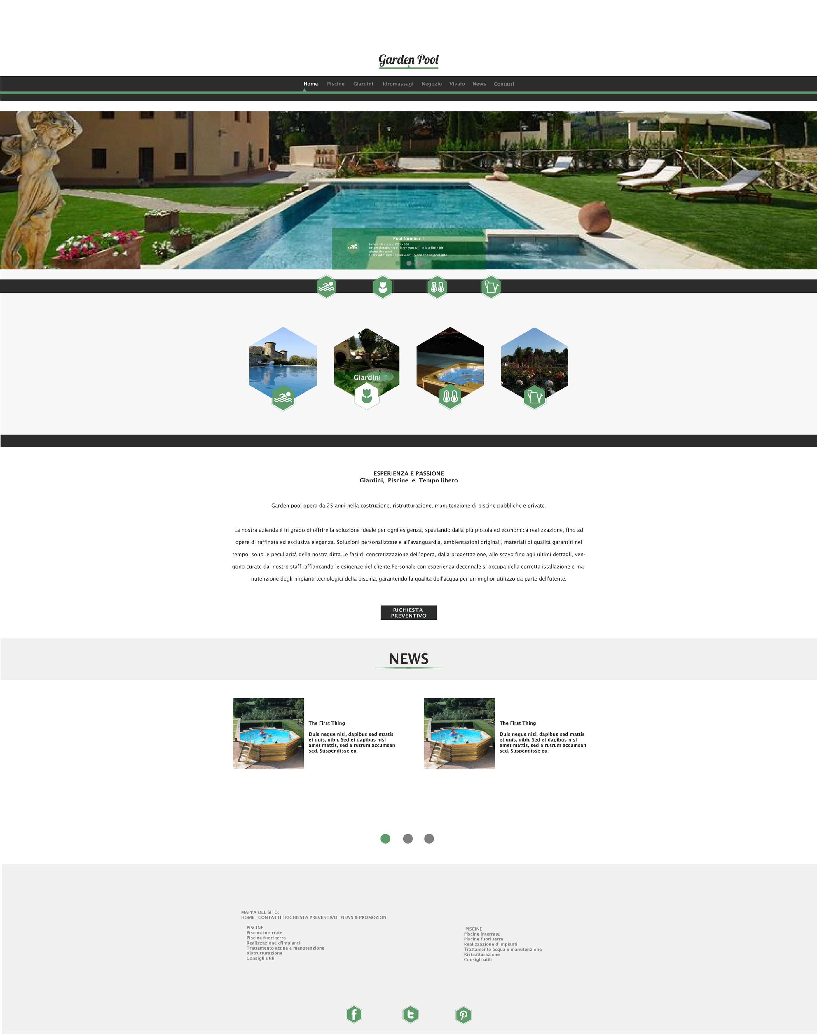 Foto Di Piscine Private garden pool website on behance