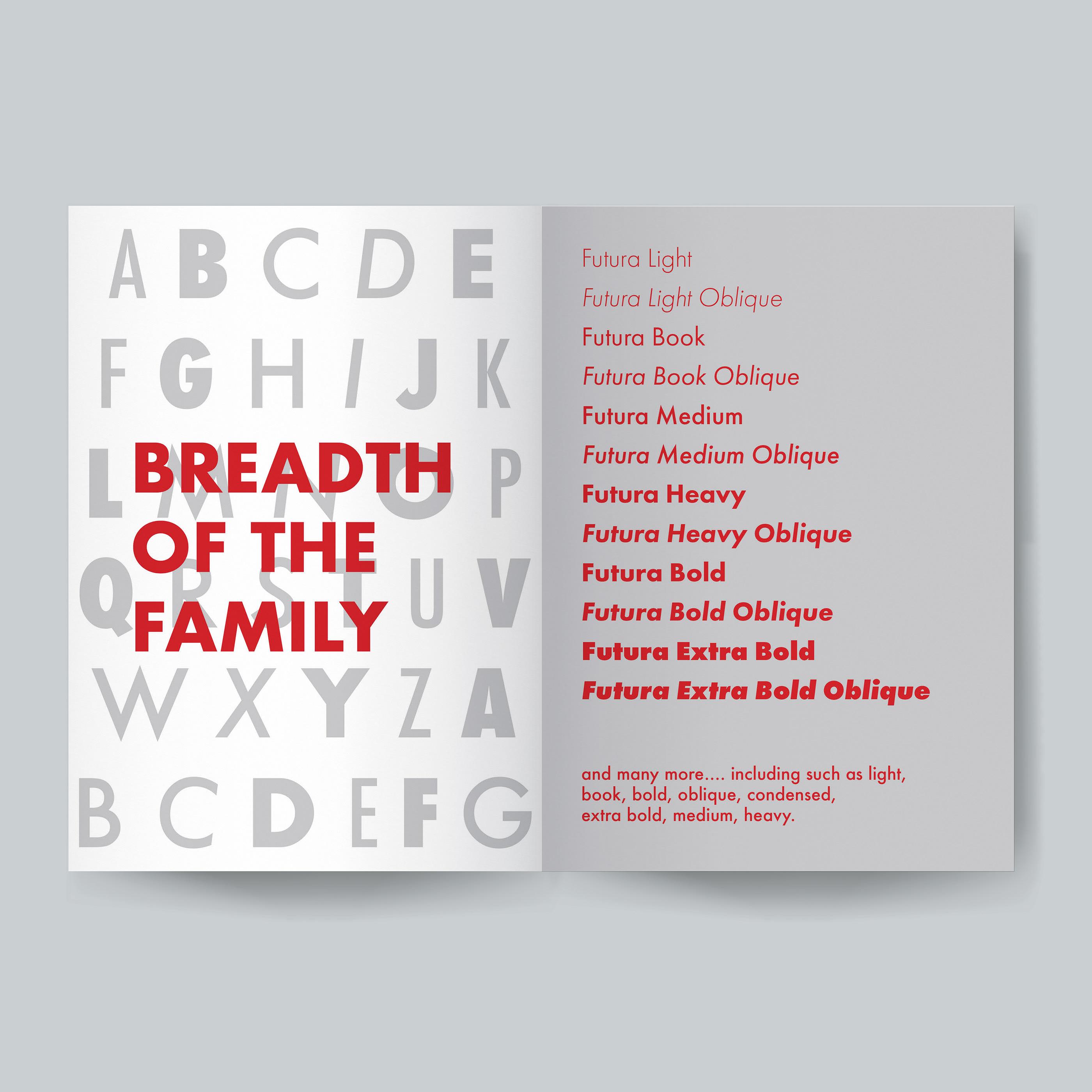 Futura Type Analysis Book on Behance