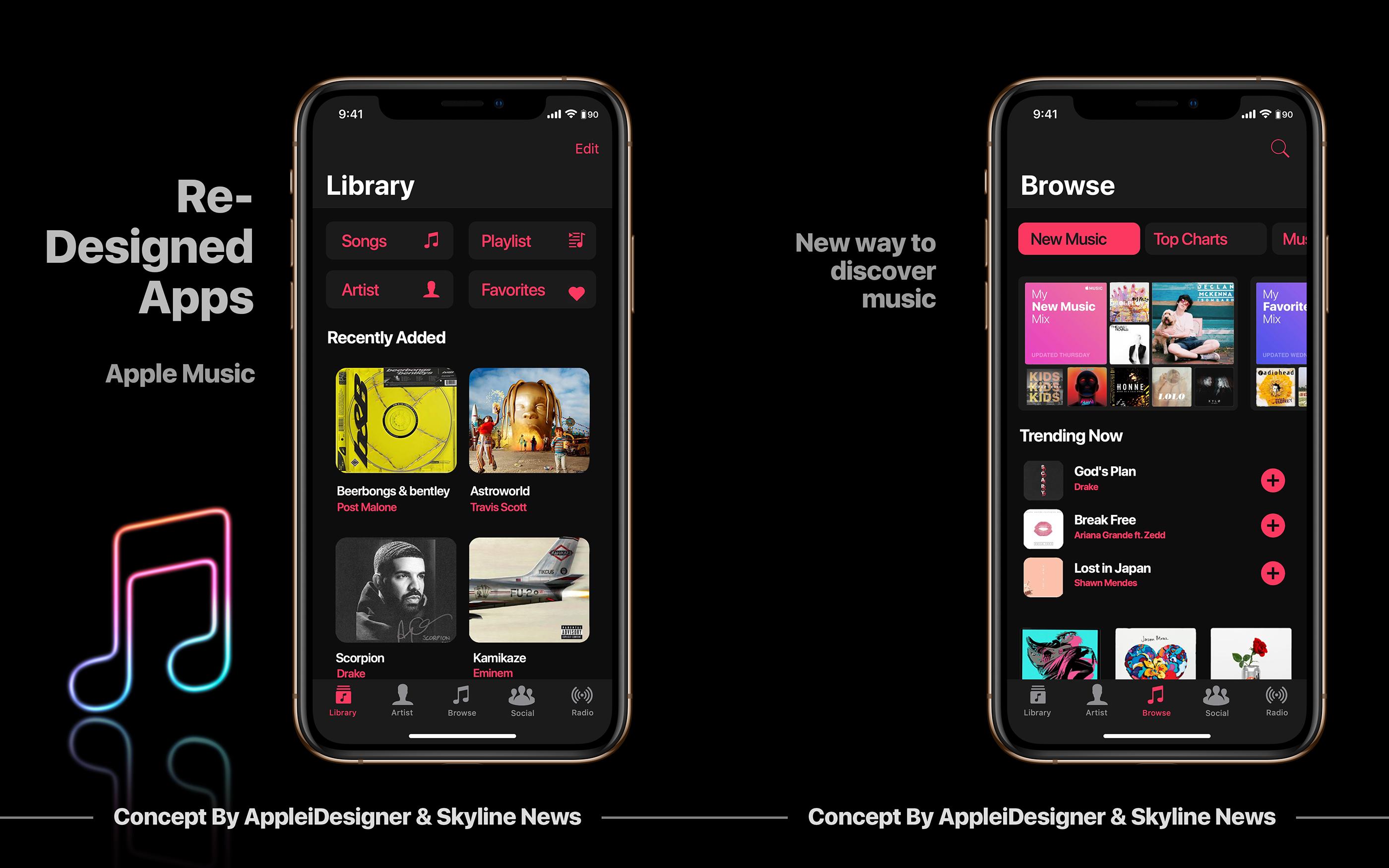 Ios 13 Concept By Appleidesigner Skyline News On Behance