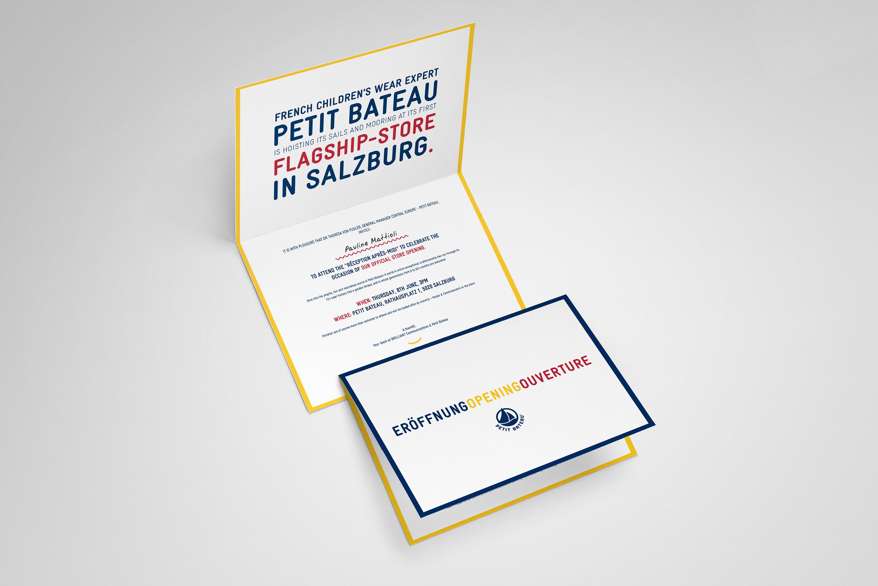 Petit Bateau Opening on Behance