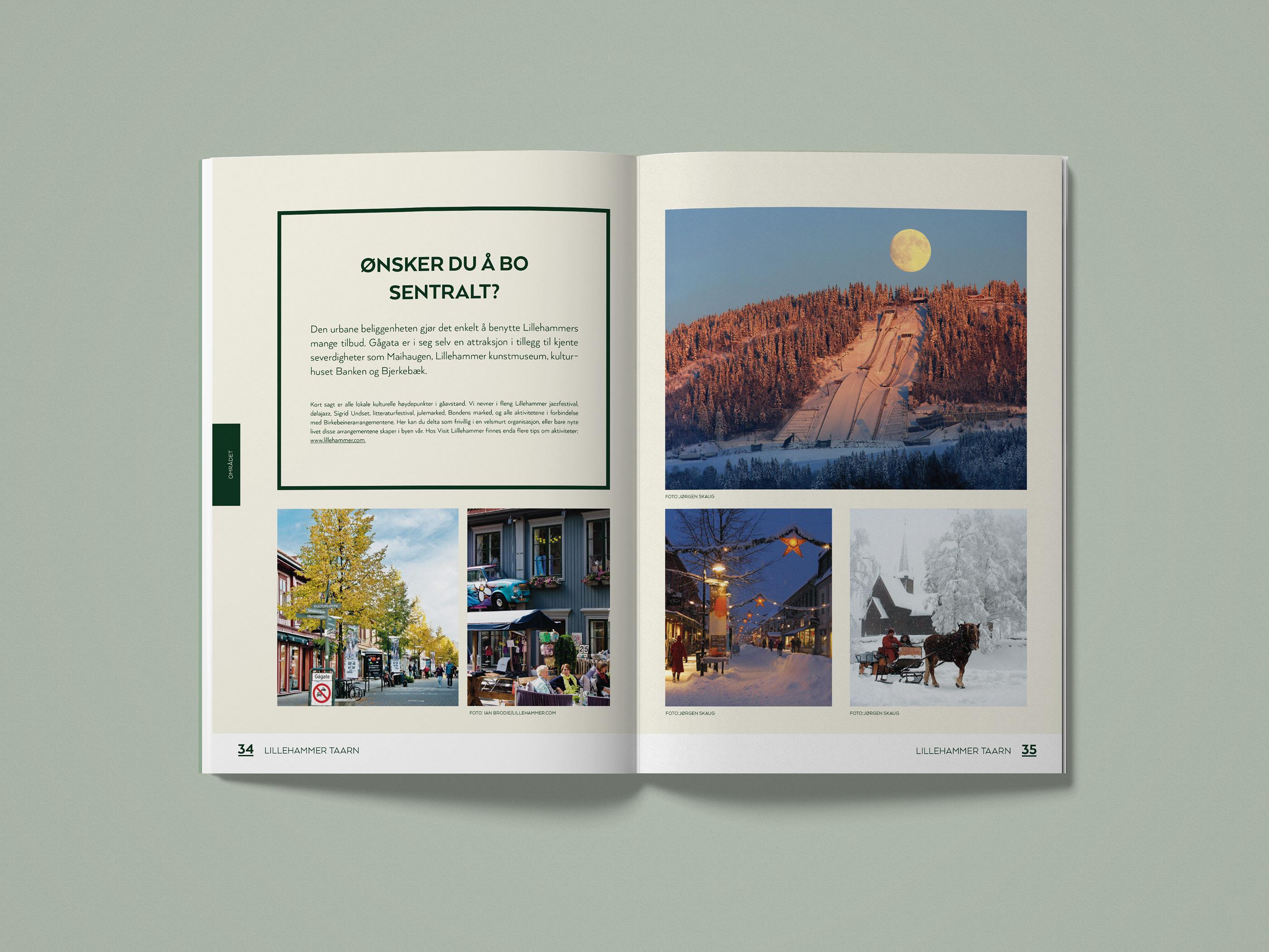 Lillehammer Taarn Real Estate Brochure Identity On Behance