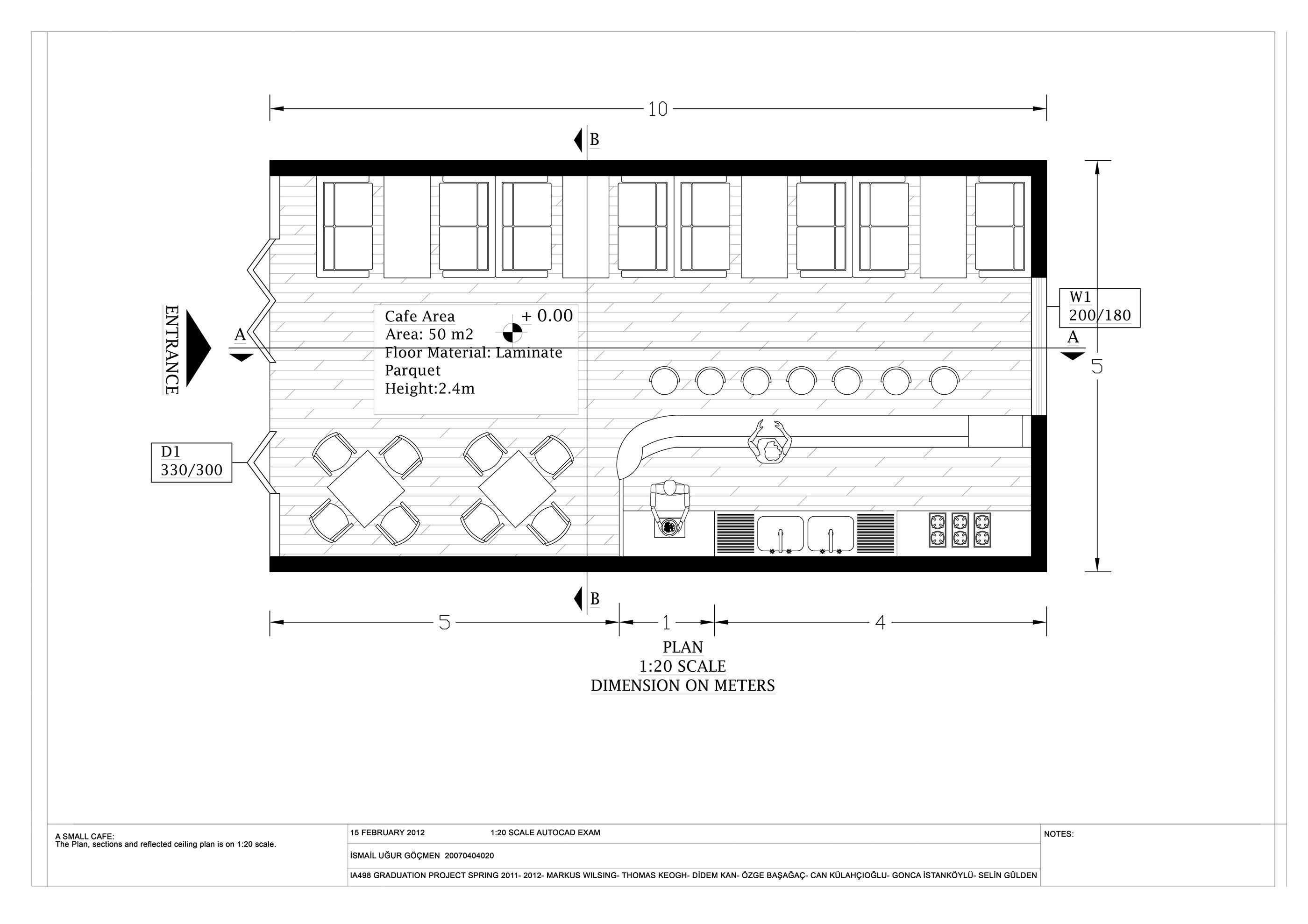 Bohemian Cafe 2d Plan On Behance