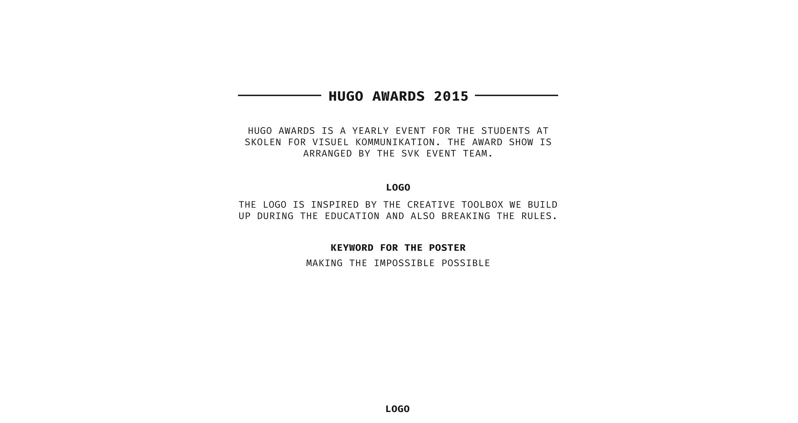 Hugo Awards 2015 poster on Behance