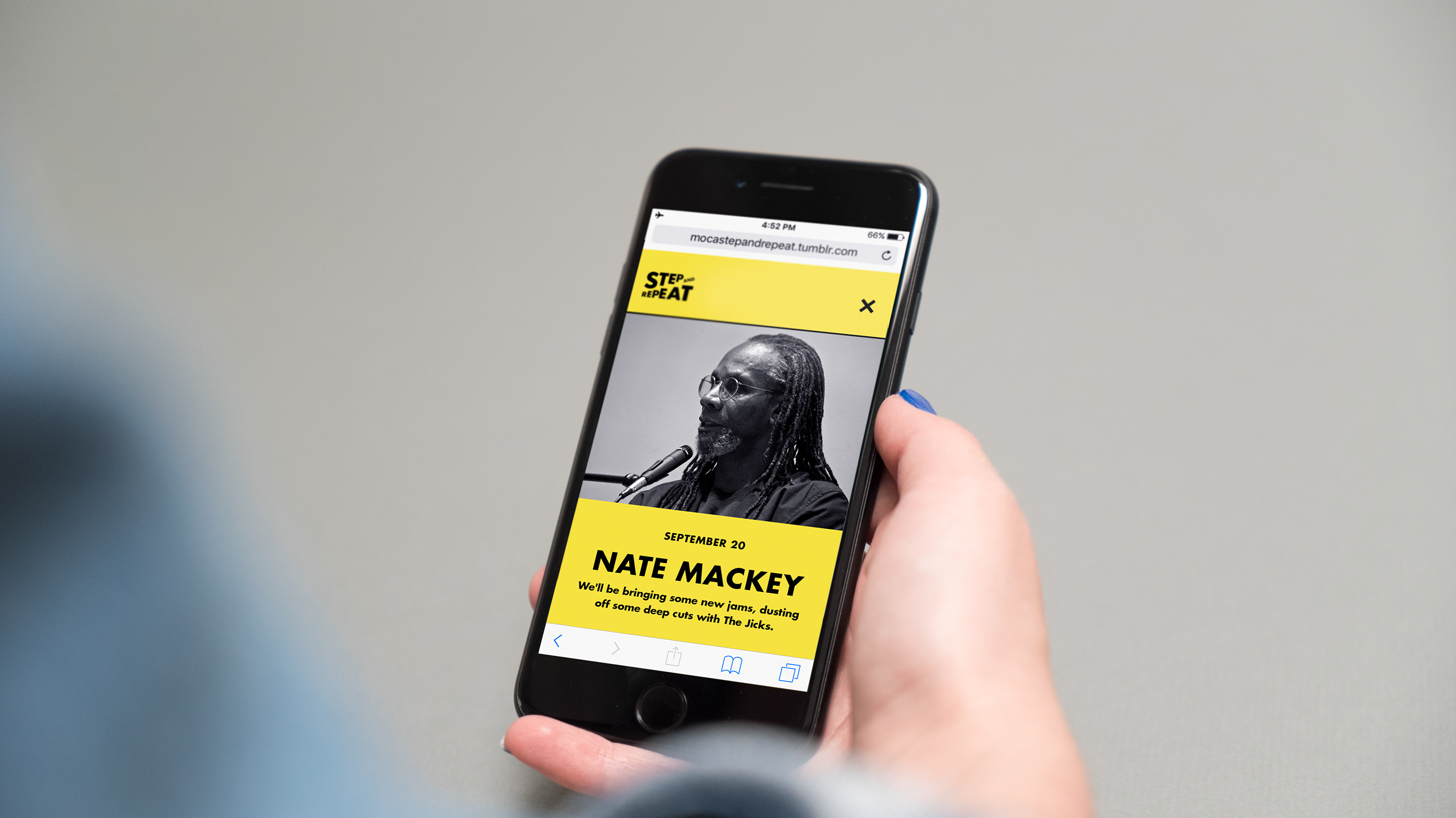MOCA: Step and Repeat Website on Behance