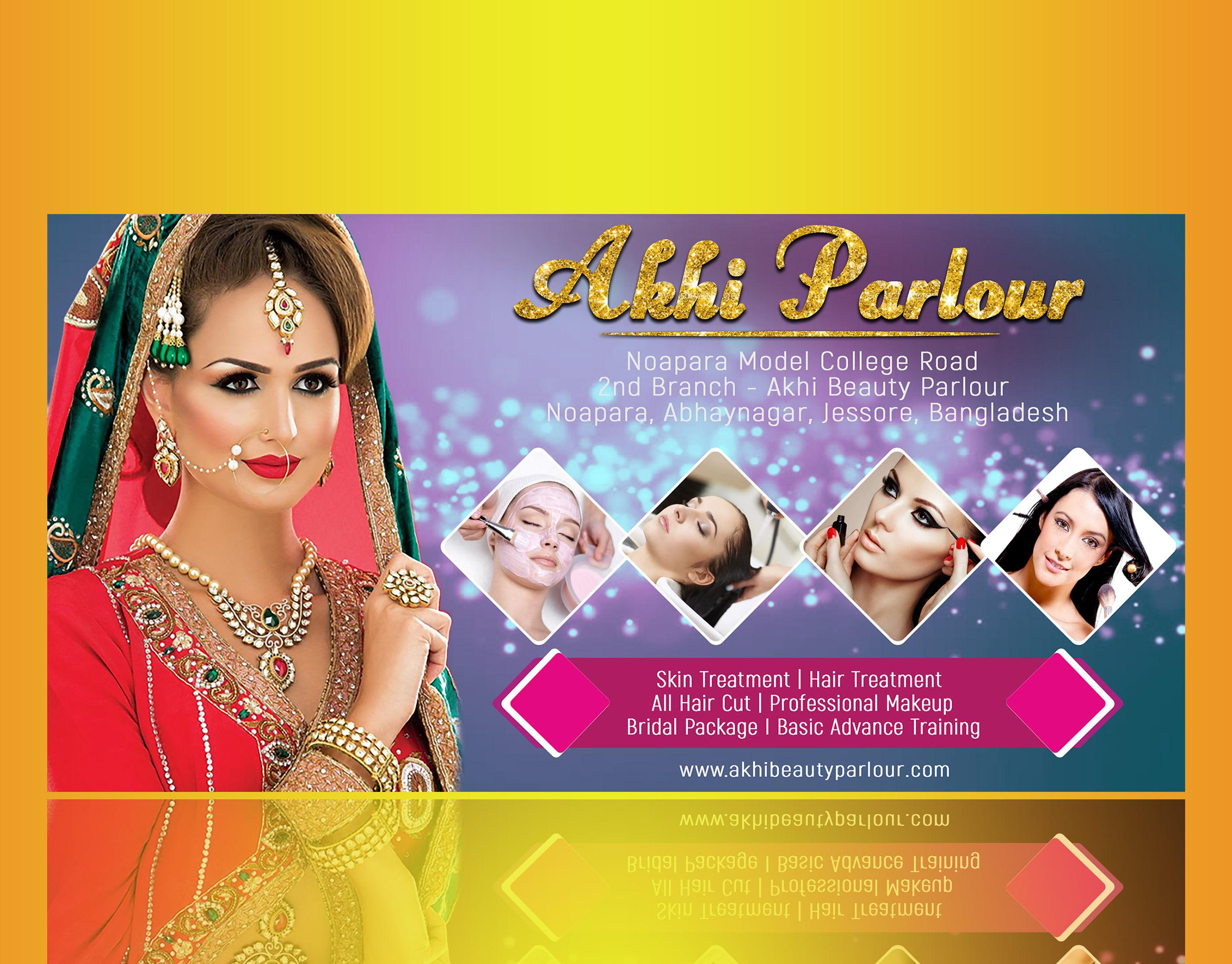 Hair Salon Beauty Parlour Banner Design Psd