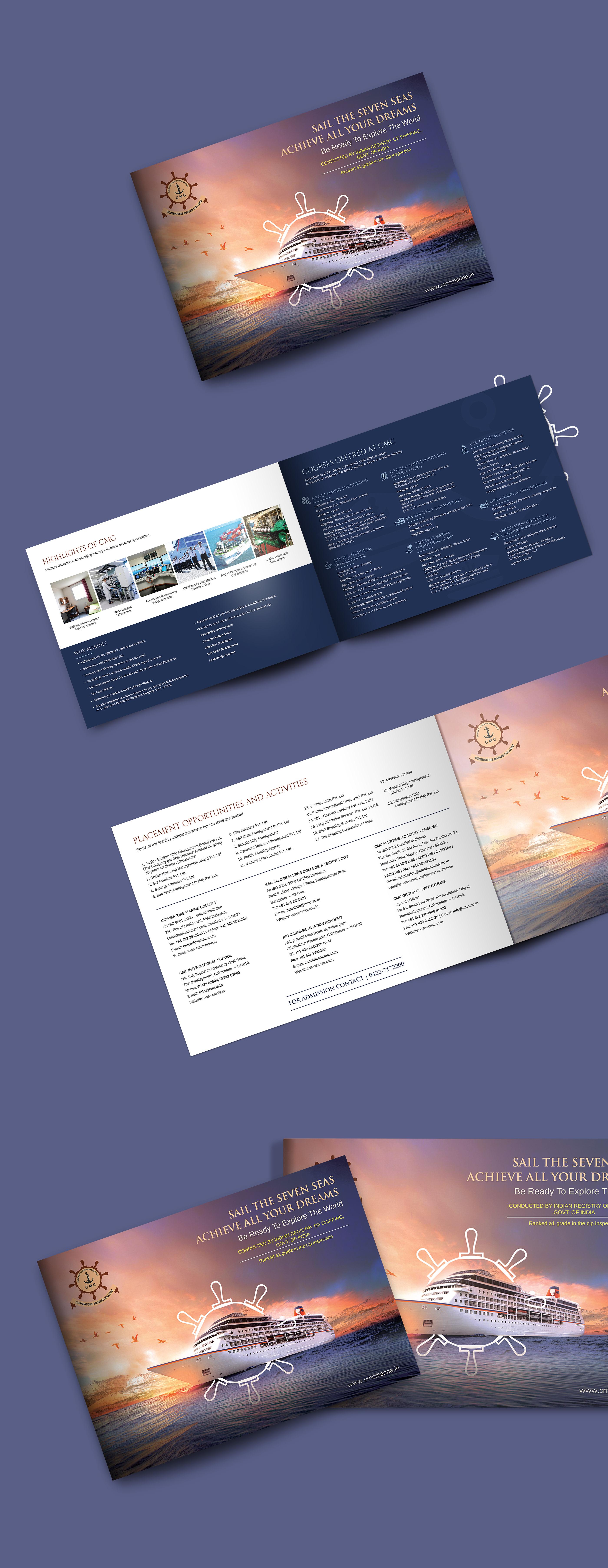 Marine College Brochure Branding | Graphic Design 2018 on