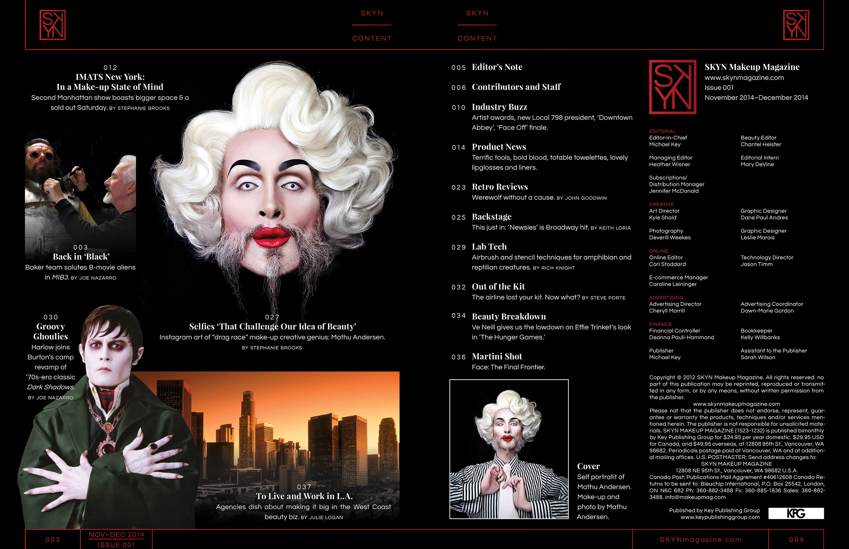 SKYN Magazine Layout on Behance