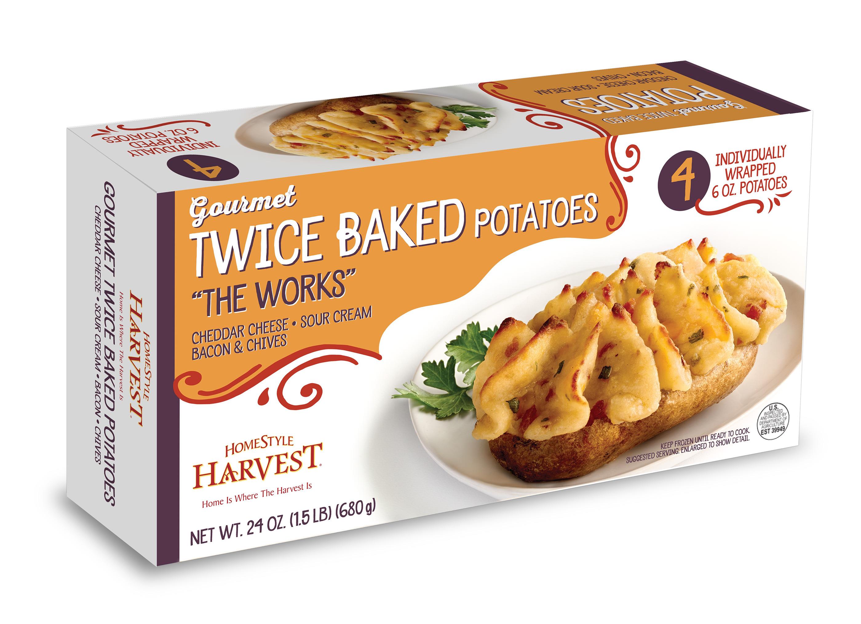 Homestyle Harvest Twice Baked Potatoes On Behance