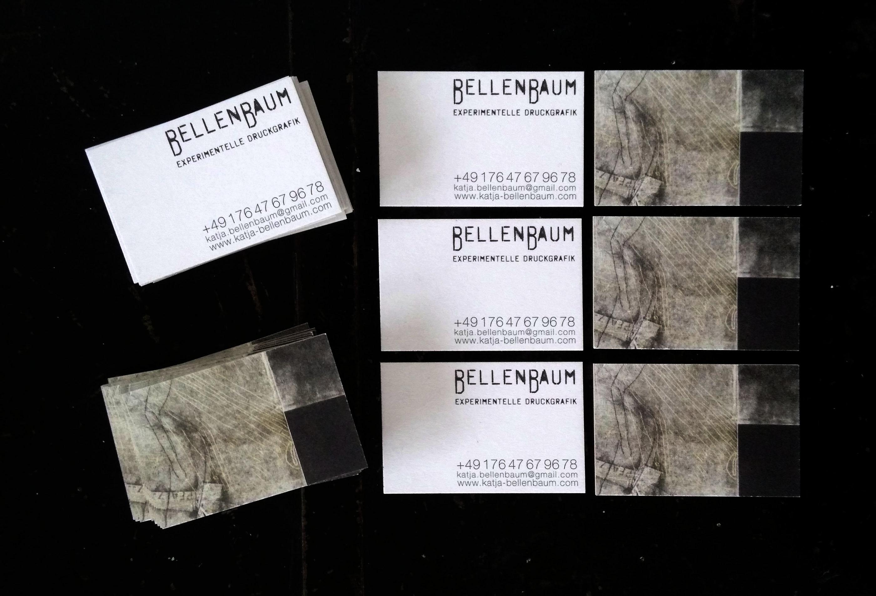 Visitenkarte Bellenbaum Experimentelle Druckgrafik On Behance