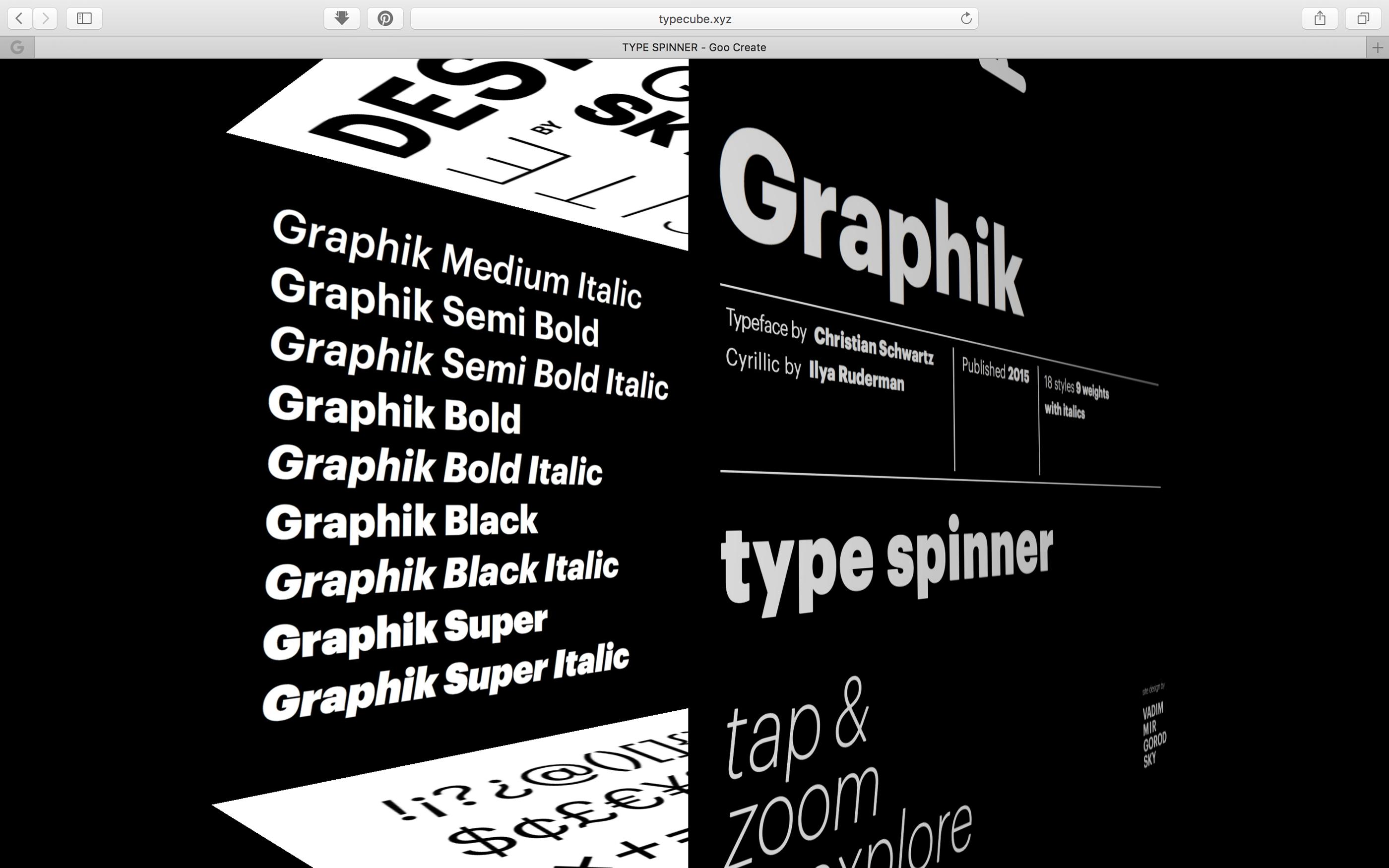 Type Spinner (for Graphik typeface) on Behance