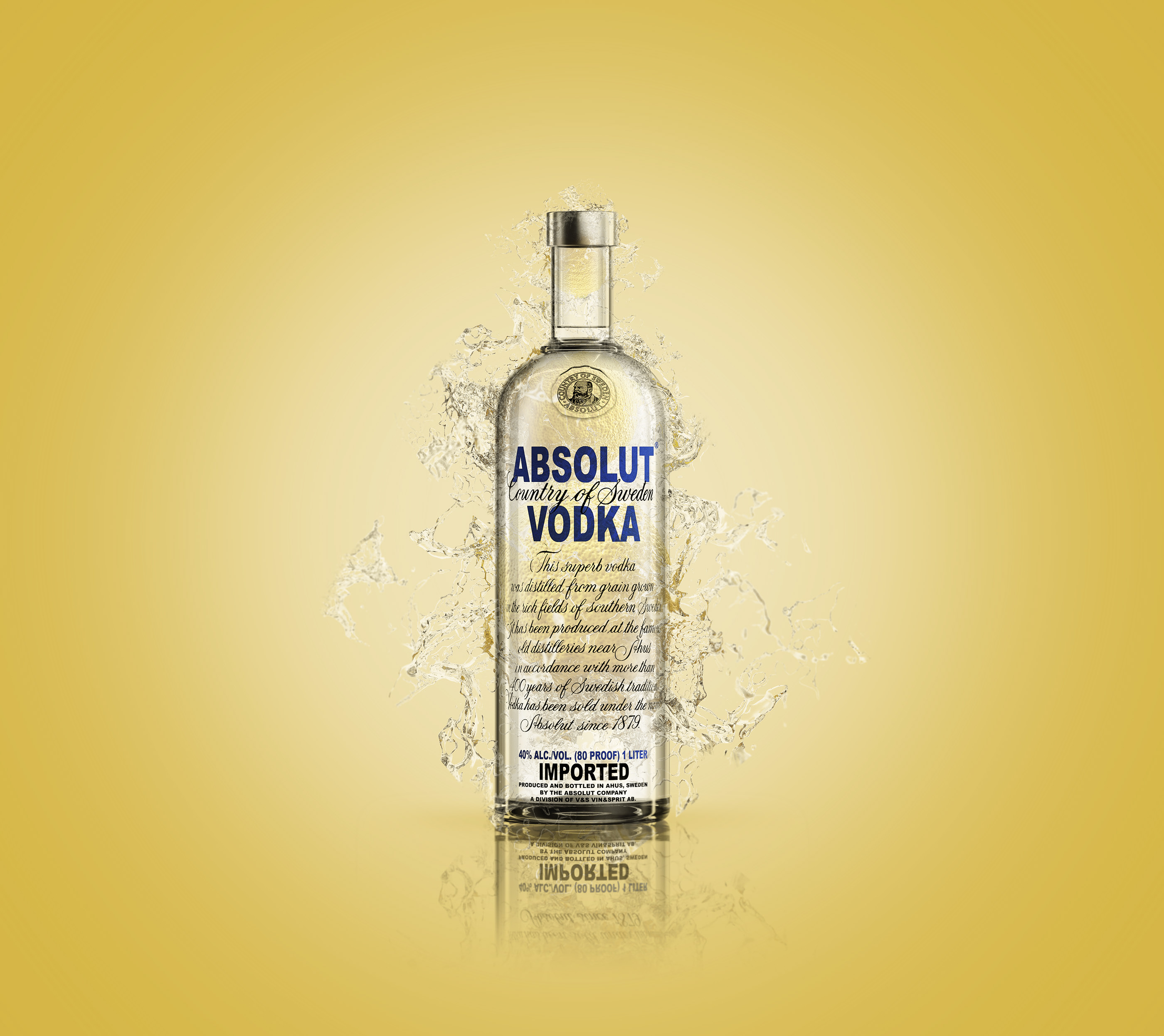 Absolut vodka - 3d model on Behance