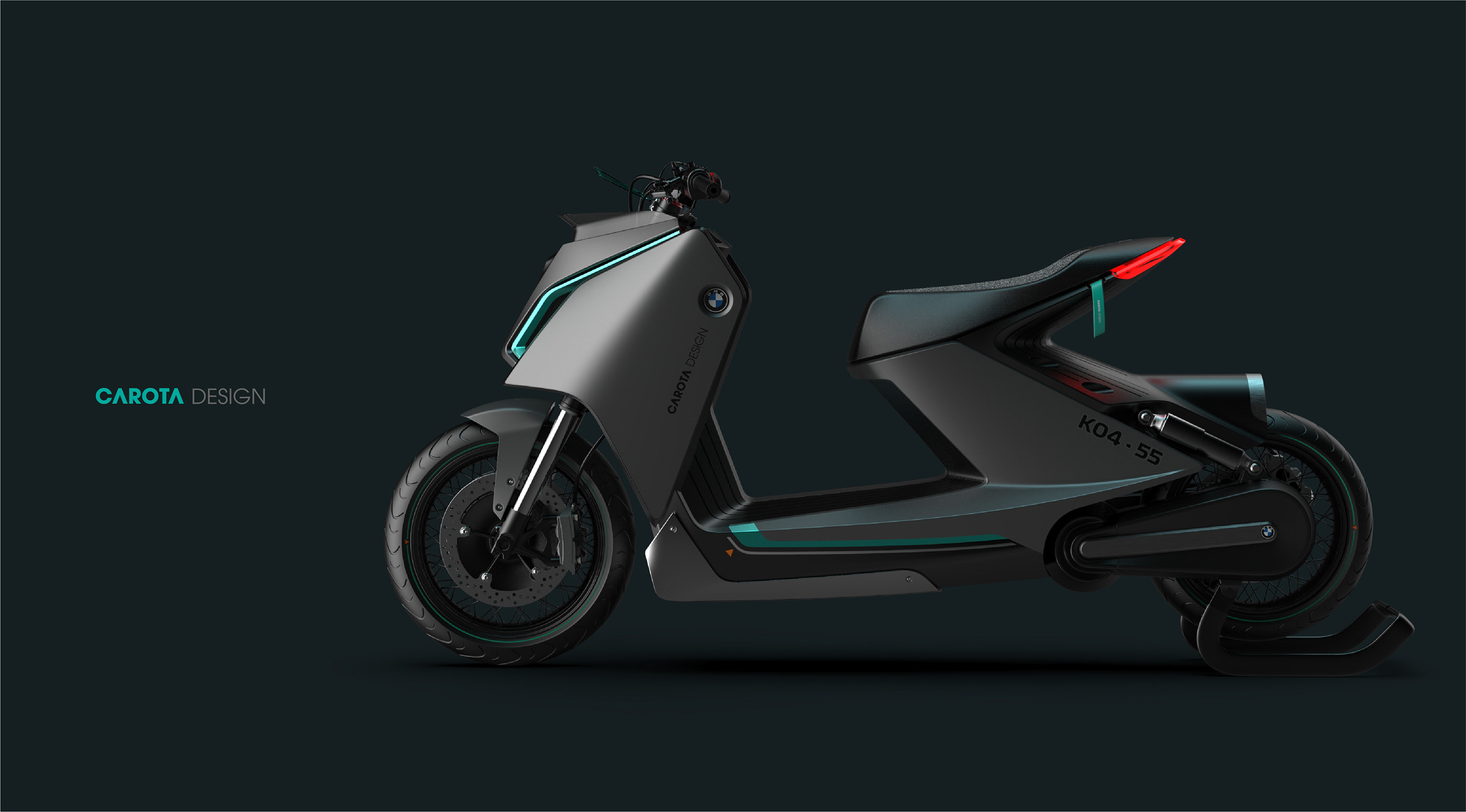 This BMW Z-Shaped Motorrad E-Scooter Concept Brings Clean Energy Rides to this Century