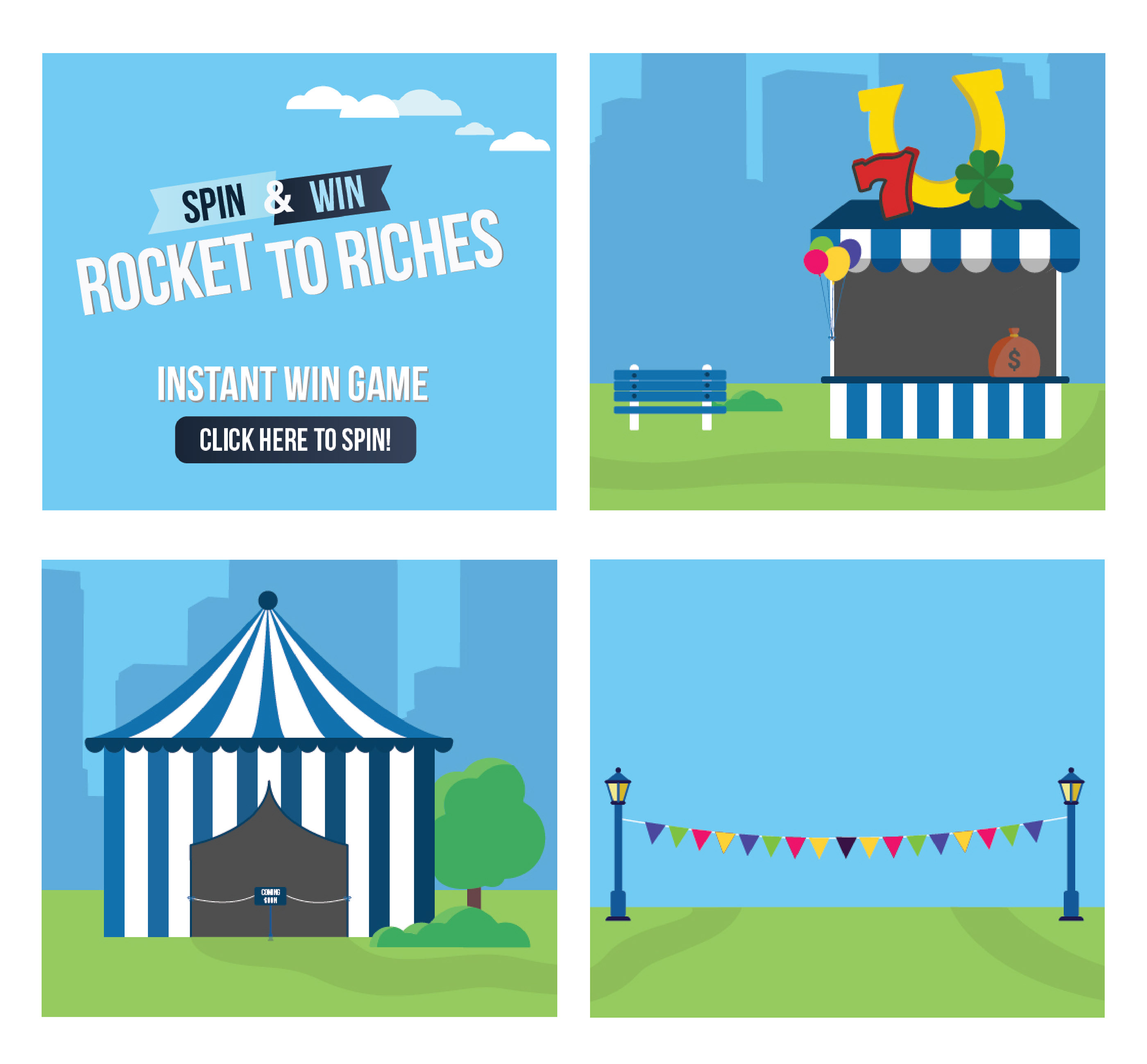 Rocket To Riches Spin & Win Game on Behance