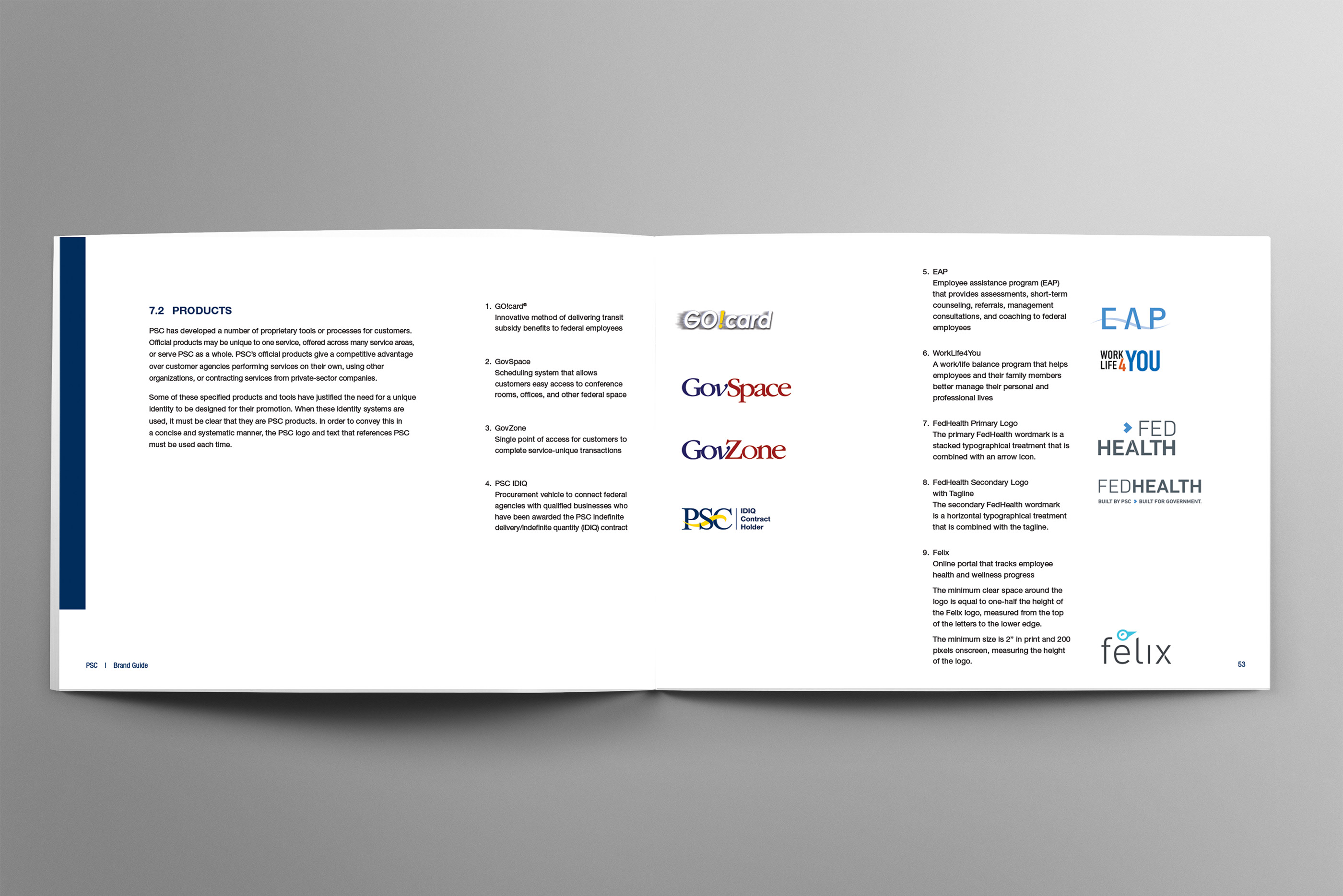 Program Support Center Brand and Style Guide on Behance