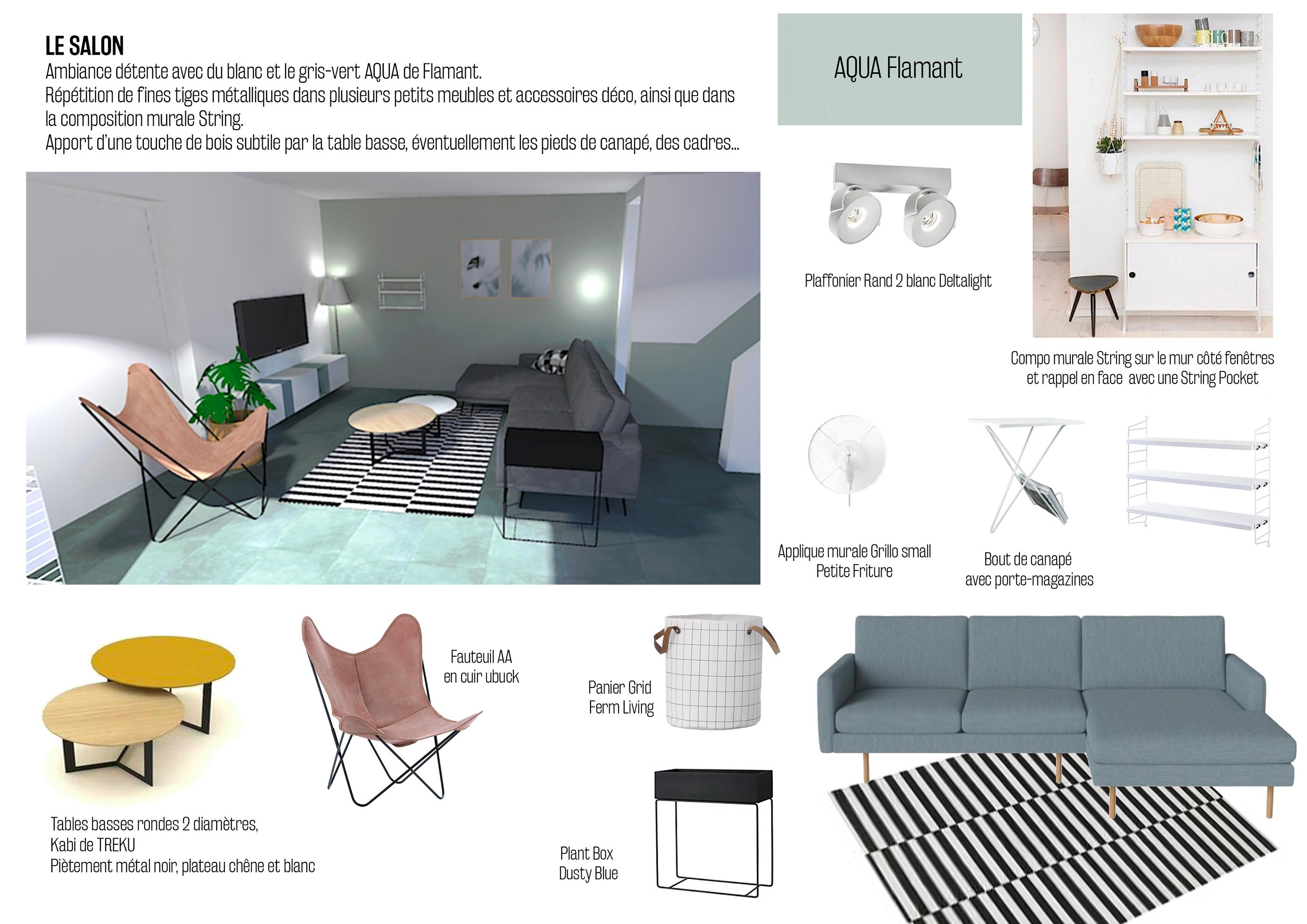 Deco Mur Salon Noir Et Blanc design d'intérieur: aménagement d'un salon on behance