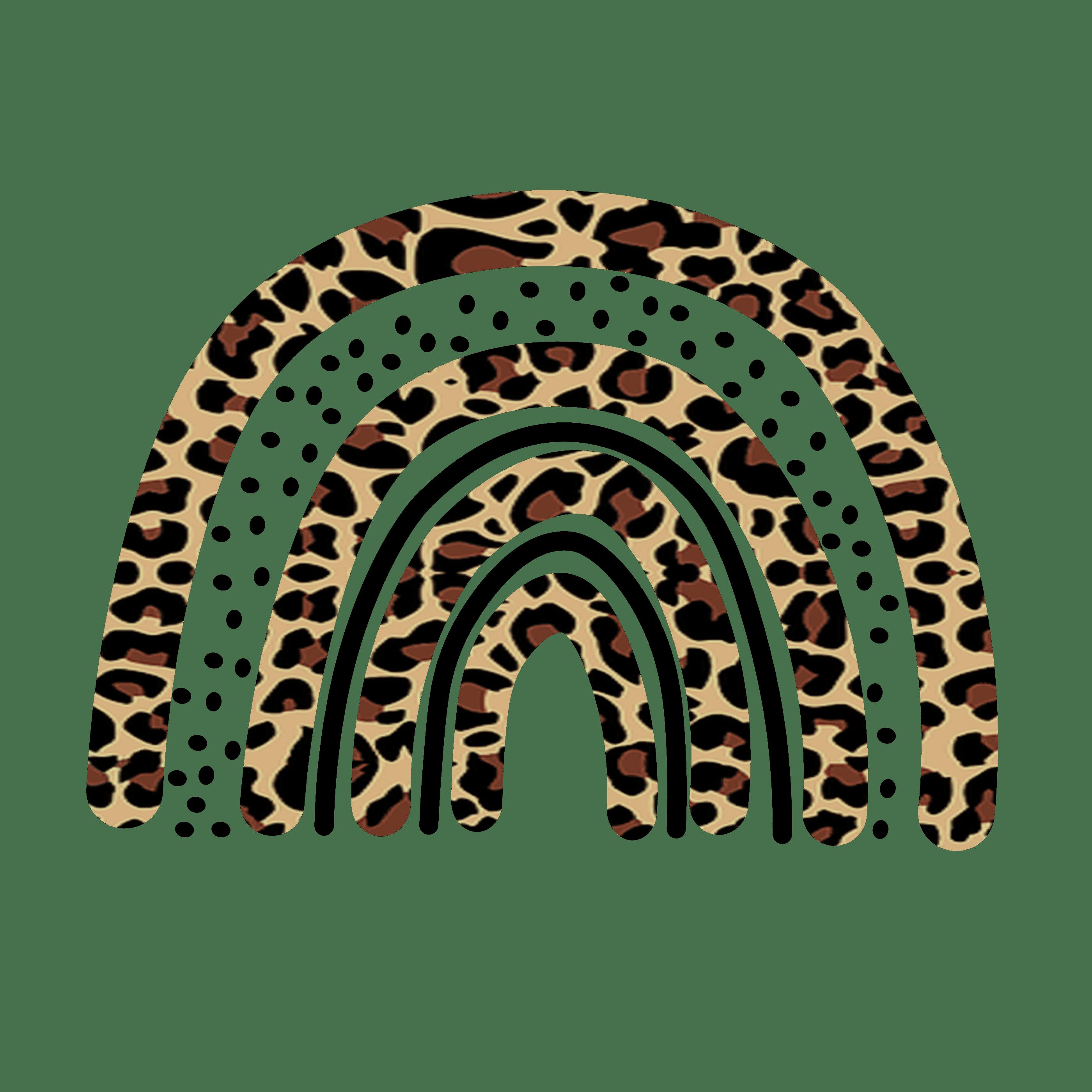 PNG Sublimation file Love leopard Rainbow text
