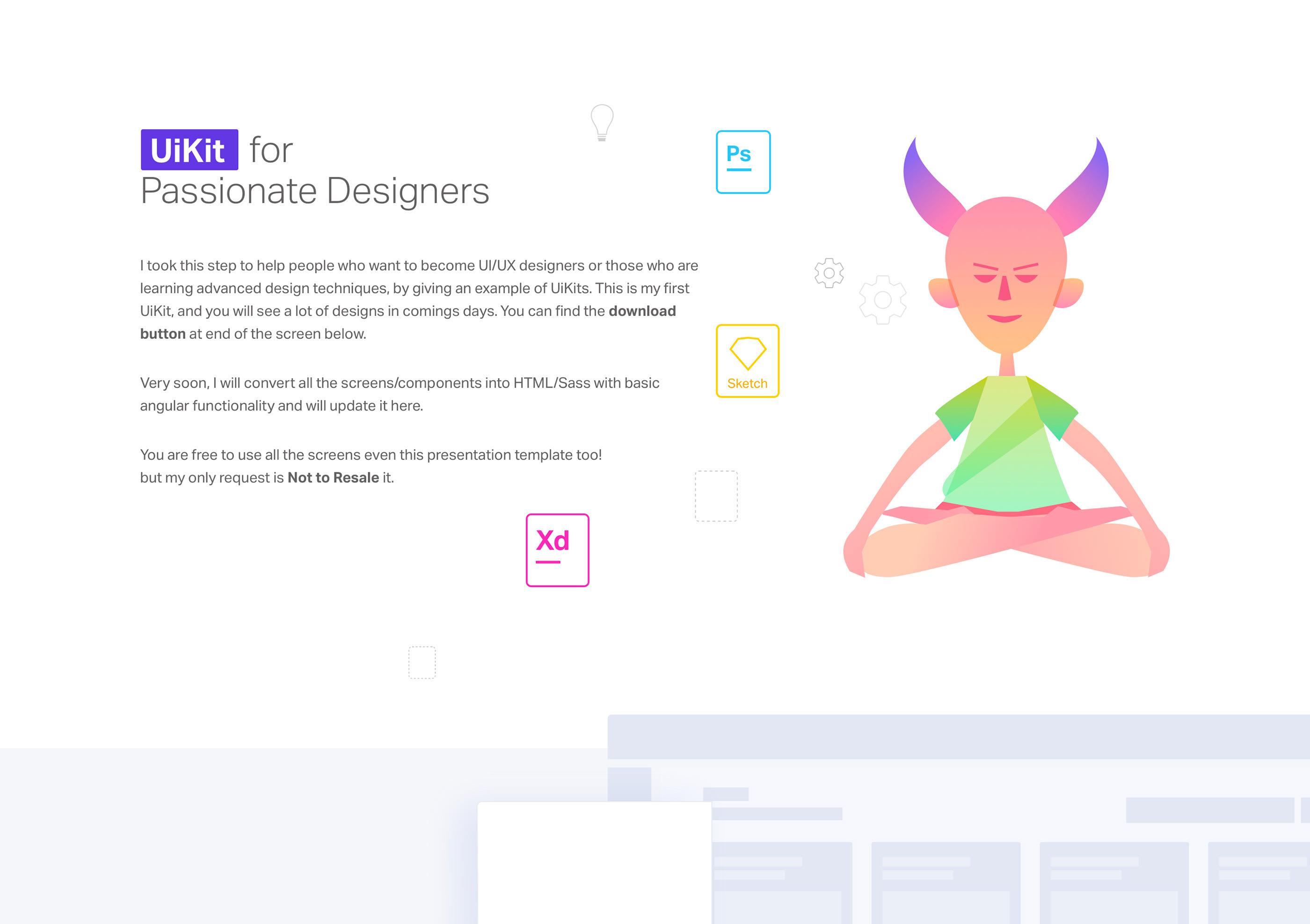 Free UI KIT on Behance