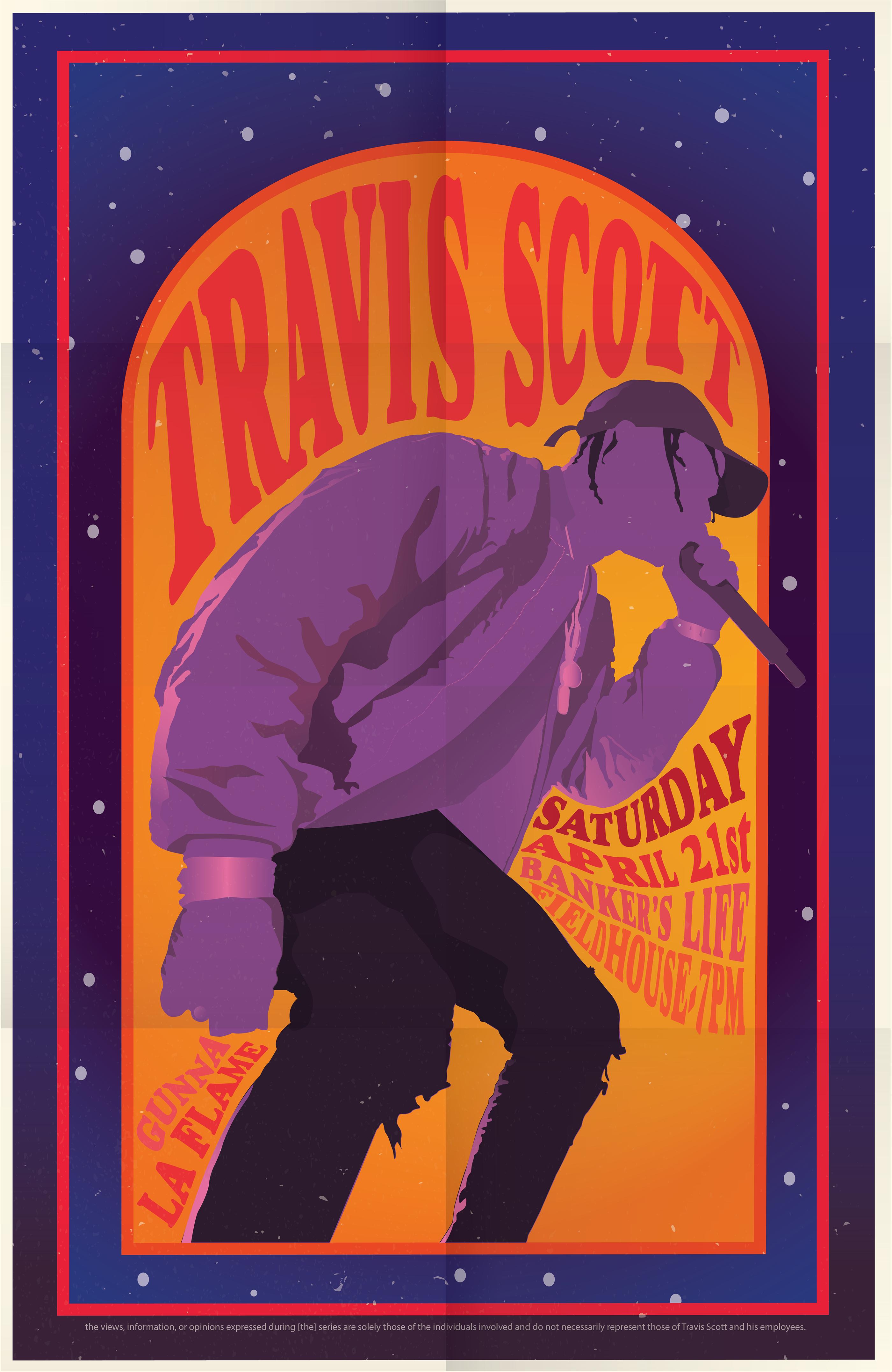 travis scott poster on behance