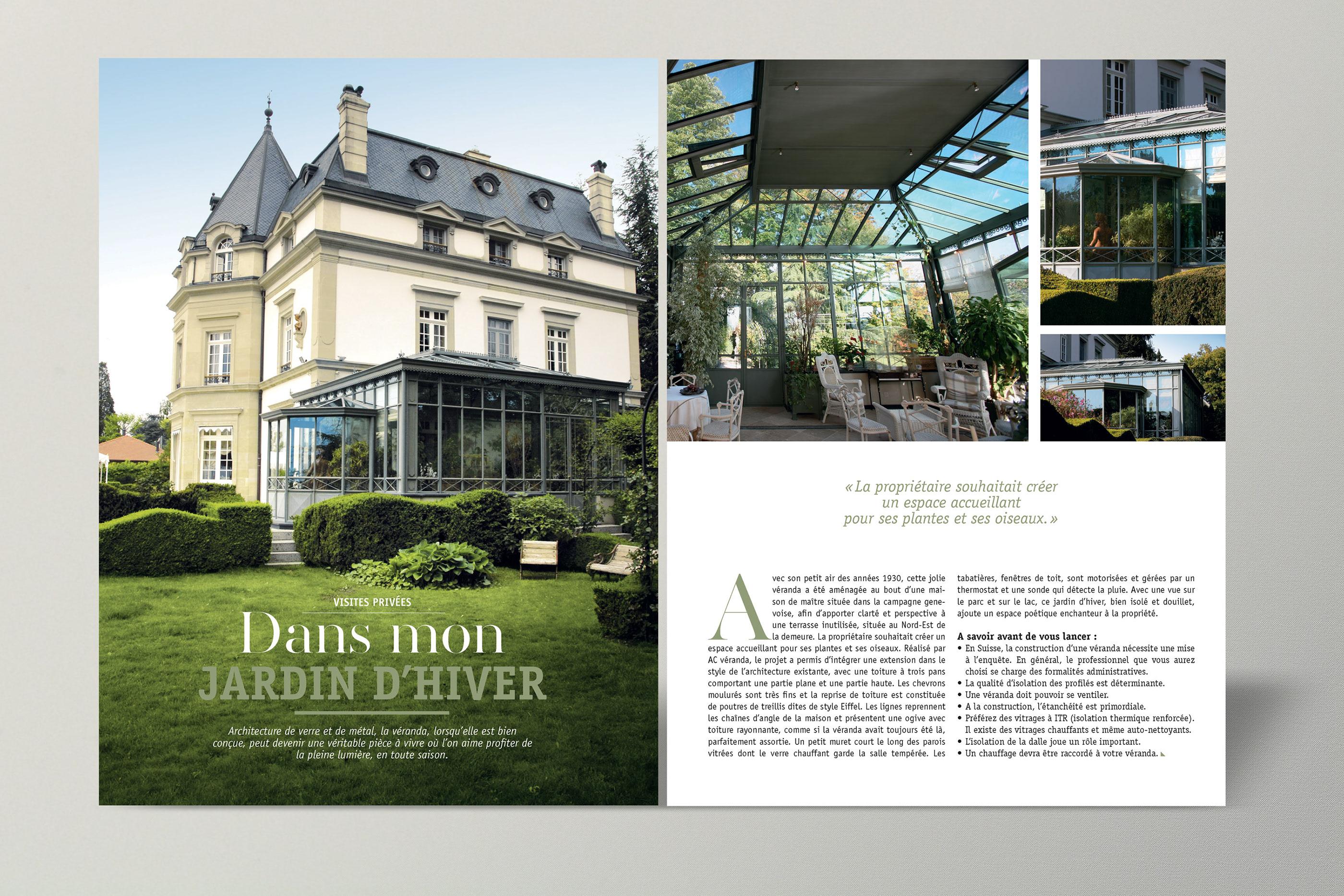 Veranda Metal Et Verre layout of an architecture magazine on behance