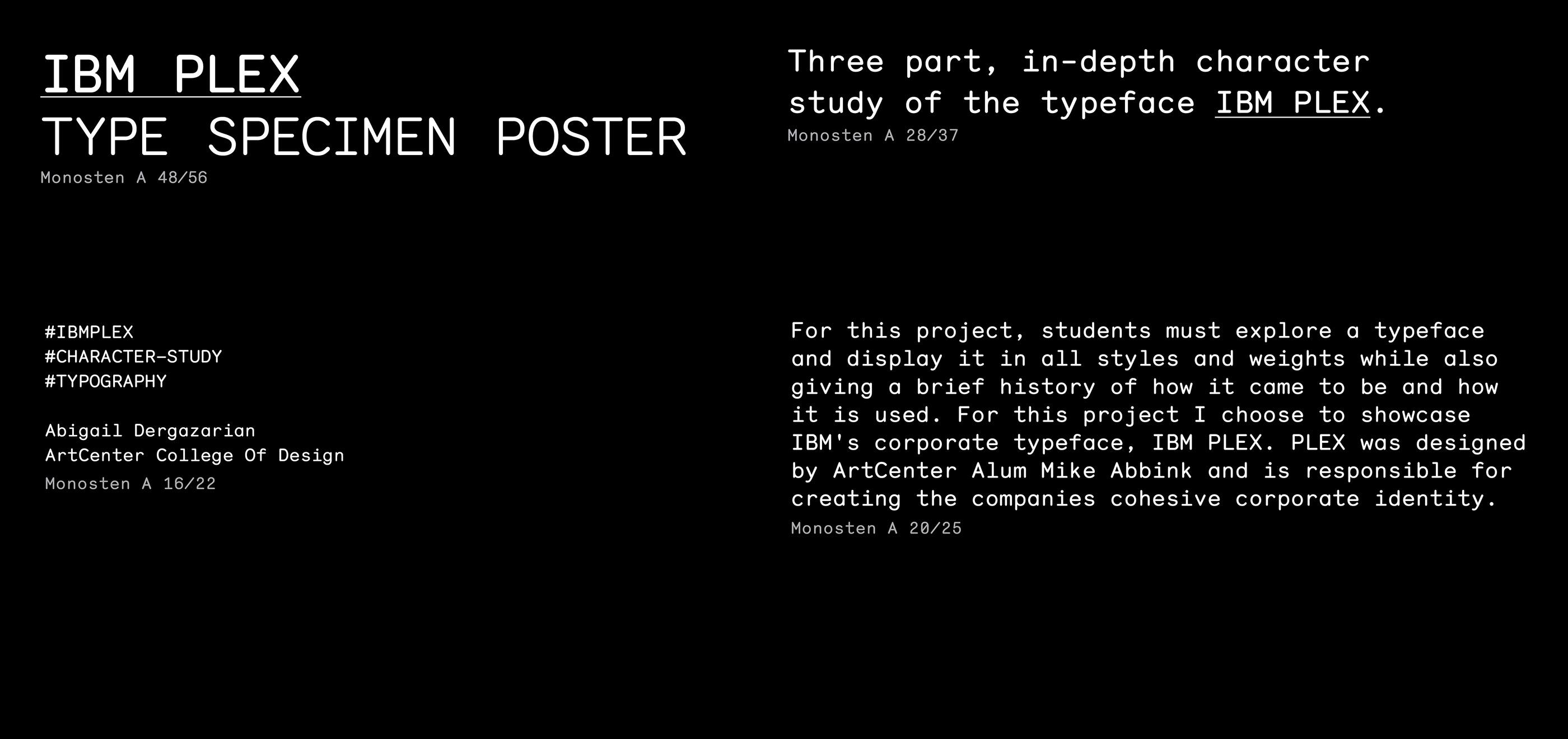 IBM Plex Type Specimen Poster on Behance