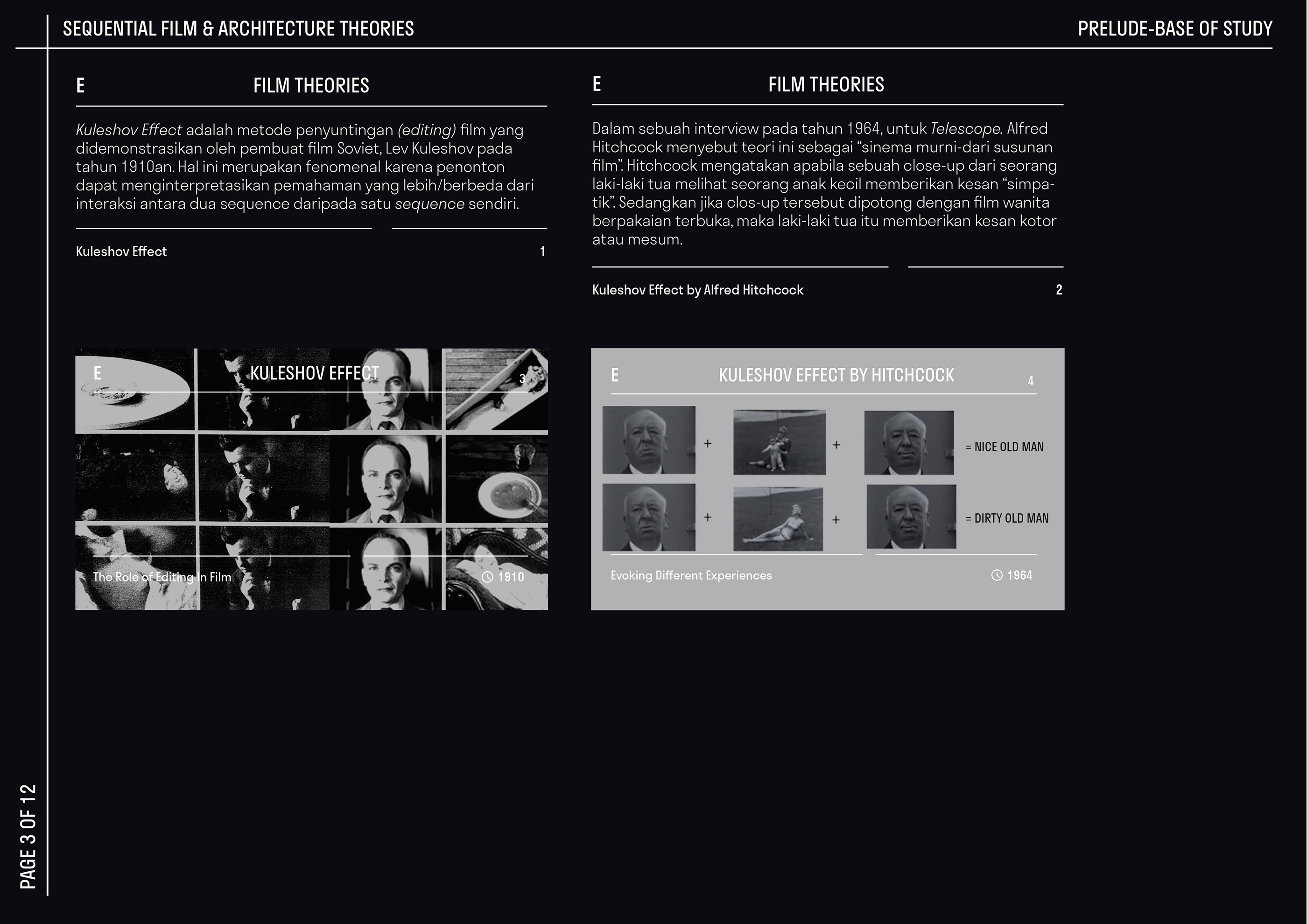 The Element Of Continuity Cinema Architecture On Behance