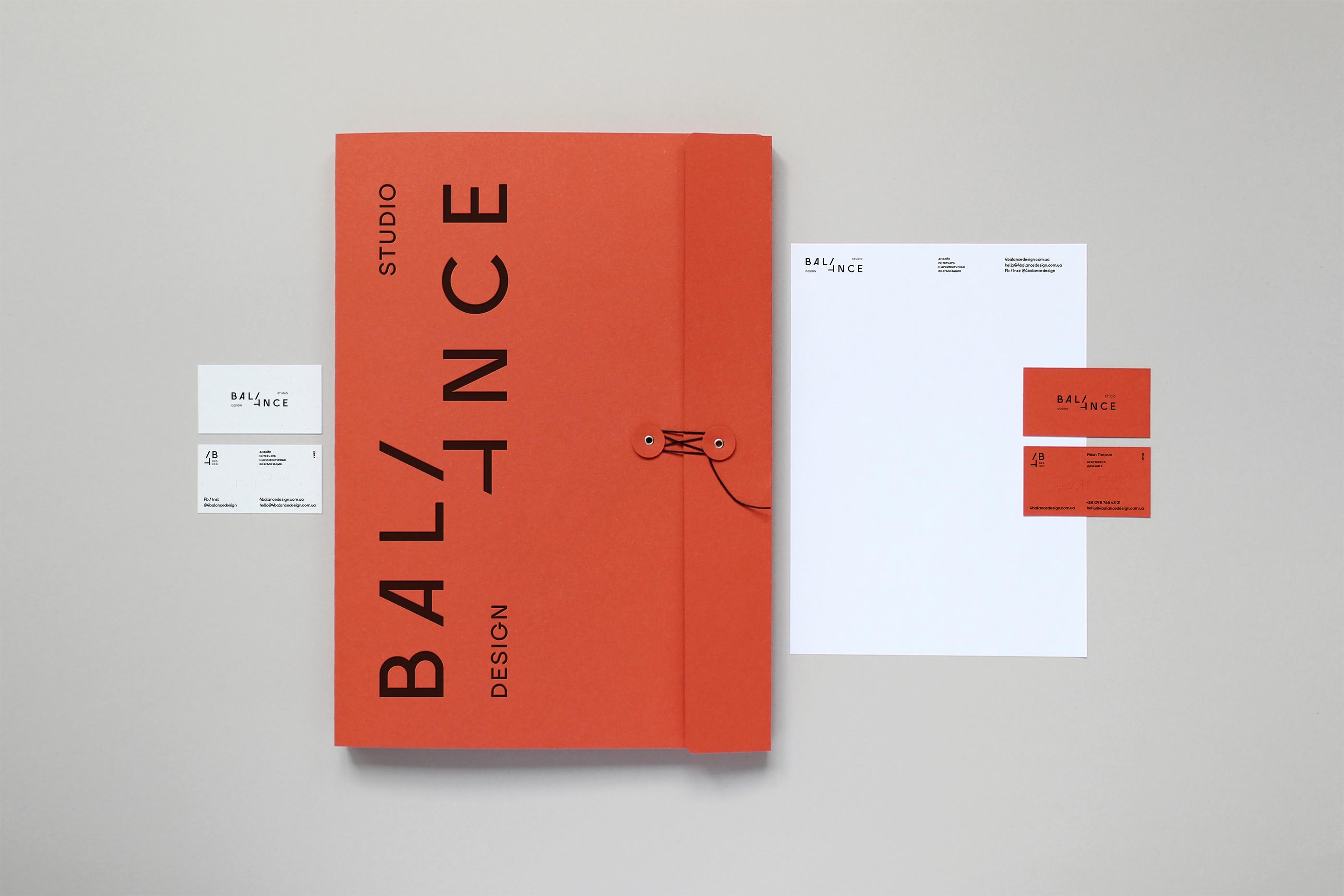 4balance Design Studio Identity by Daria Stetsenko