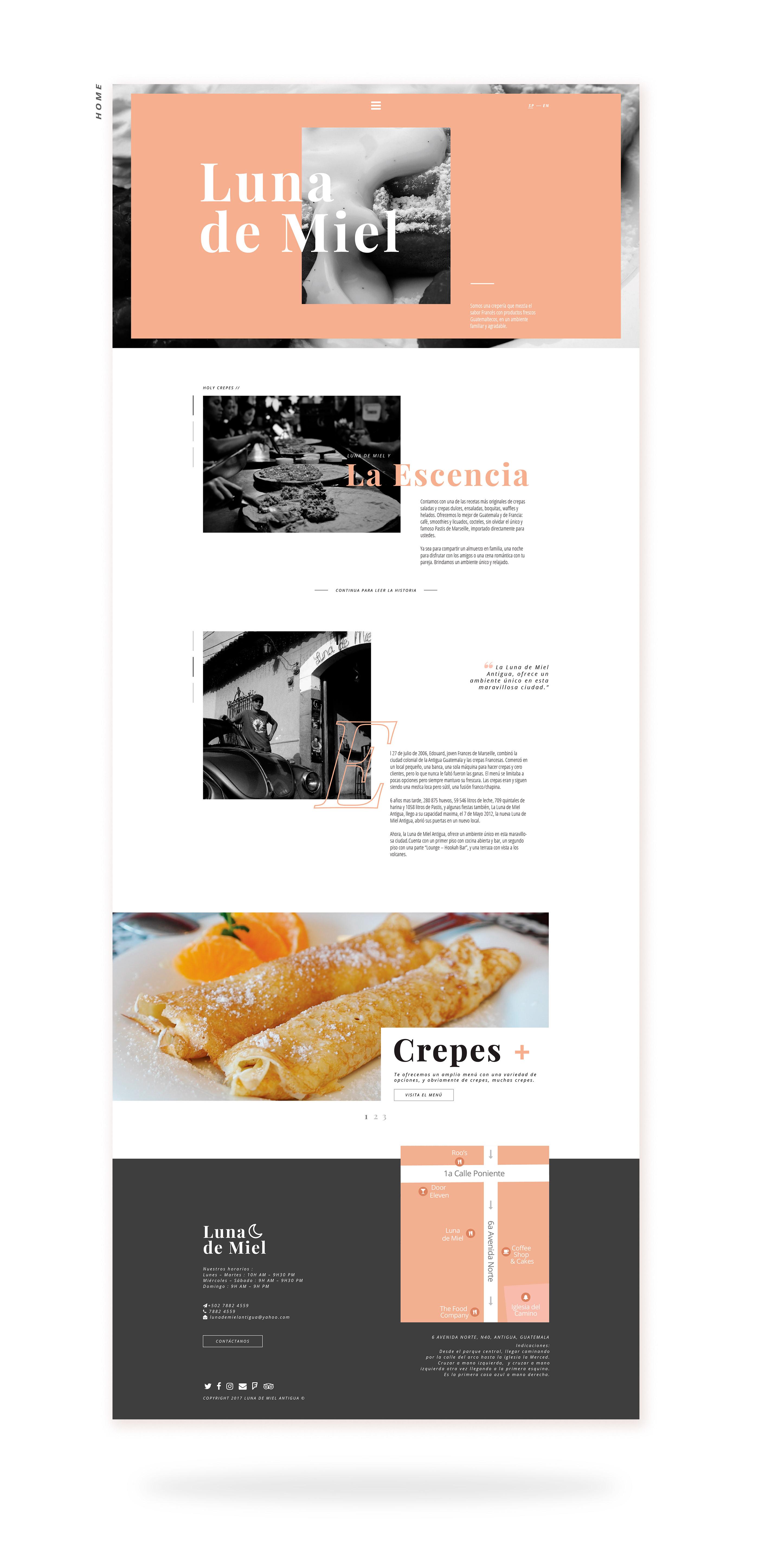Luna De Miel Website Design On Behance