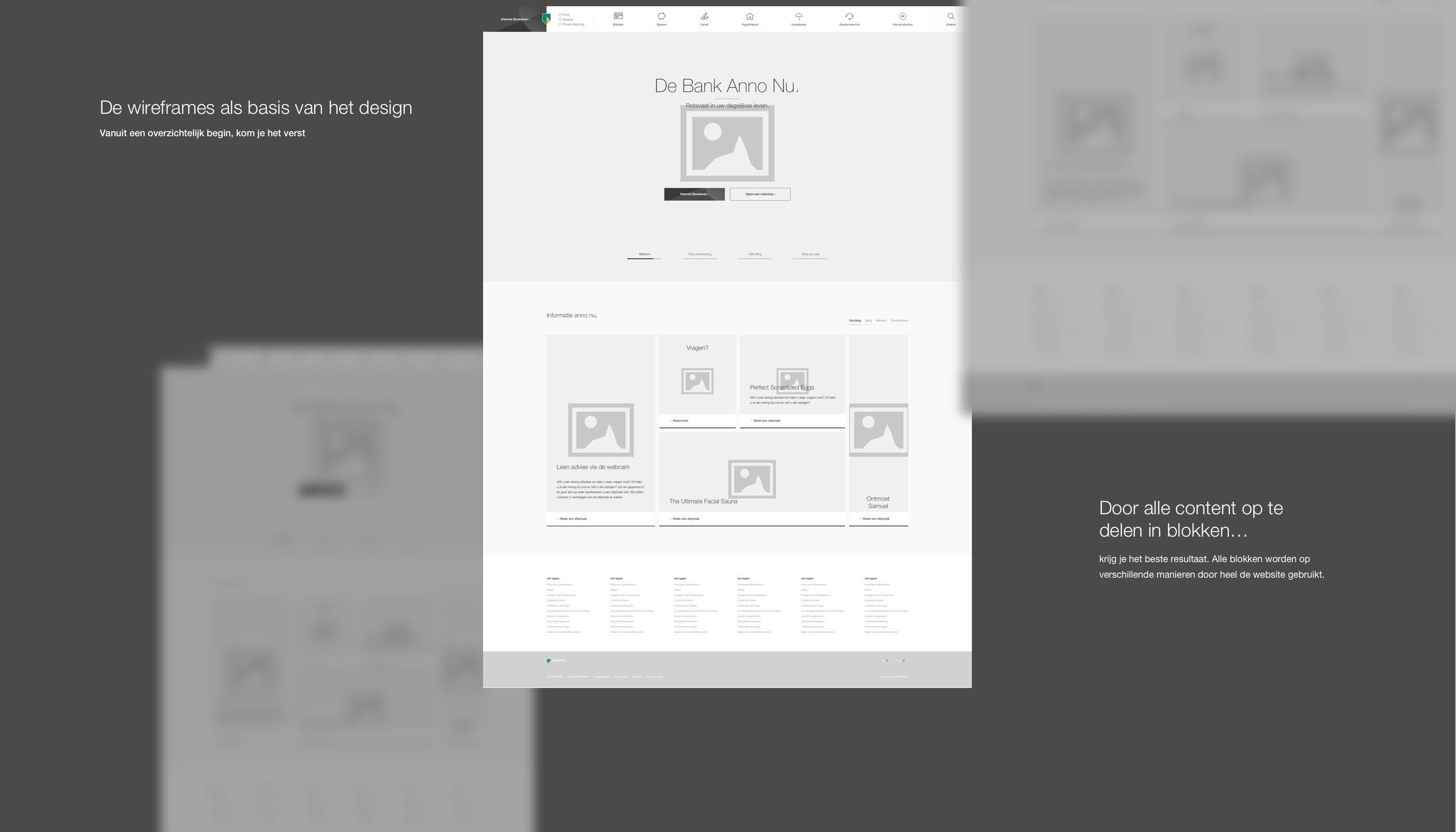 Design Bank Gebruikt.Abn Amro Website Redesign On Behance
