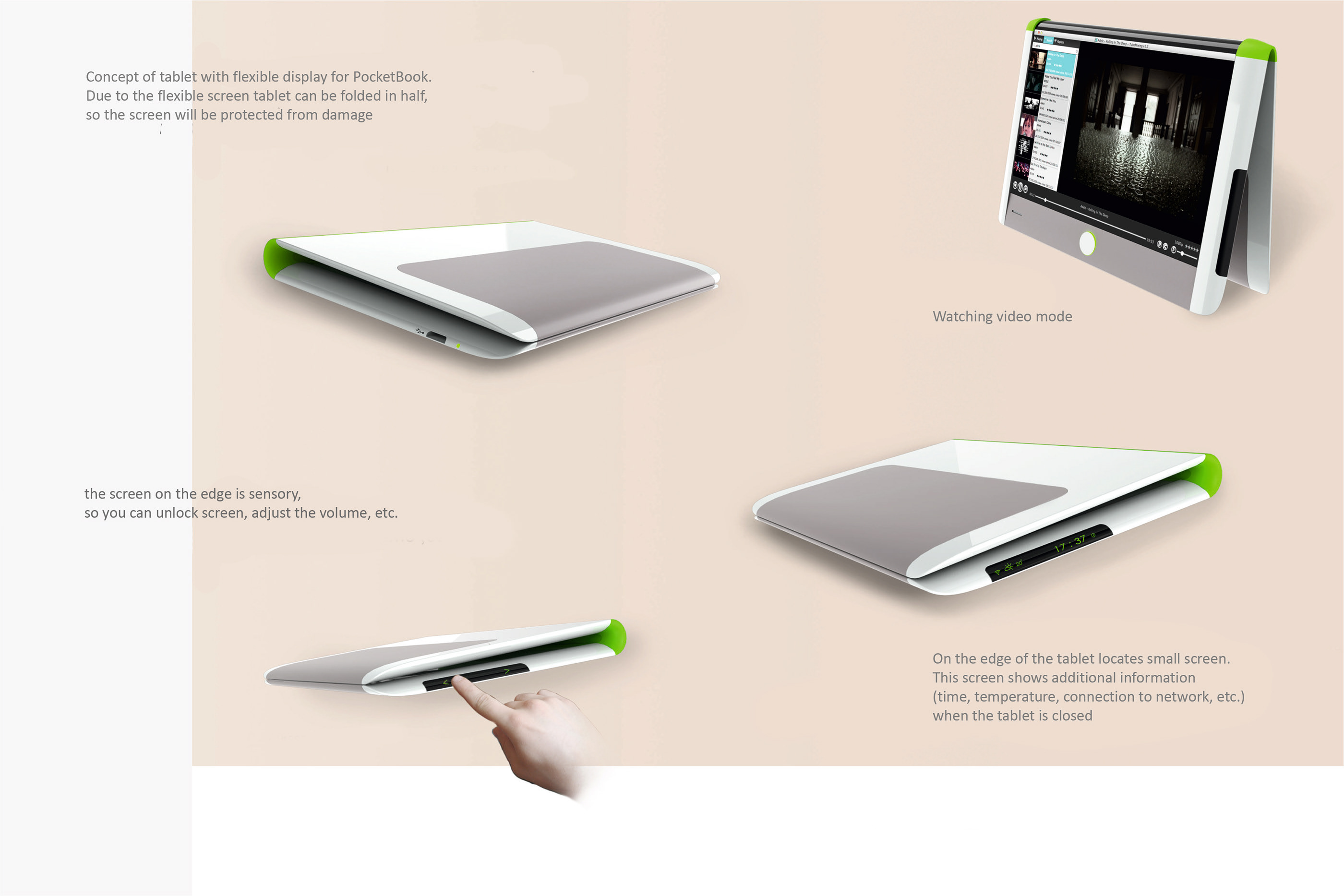 Concept of the tablet for PocketBook on Behance
