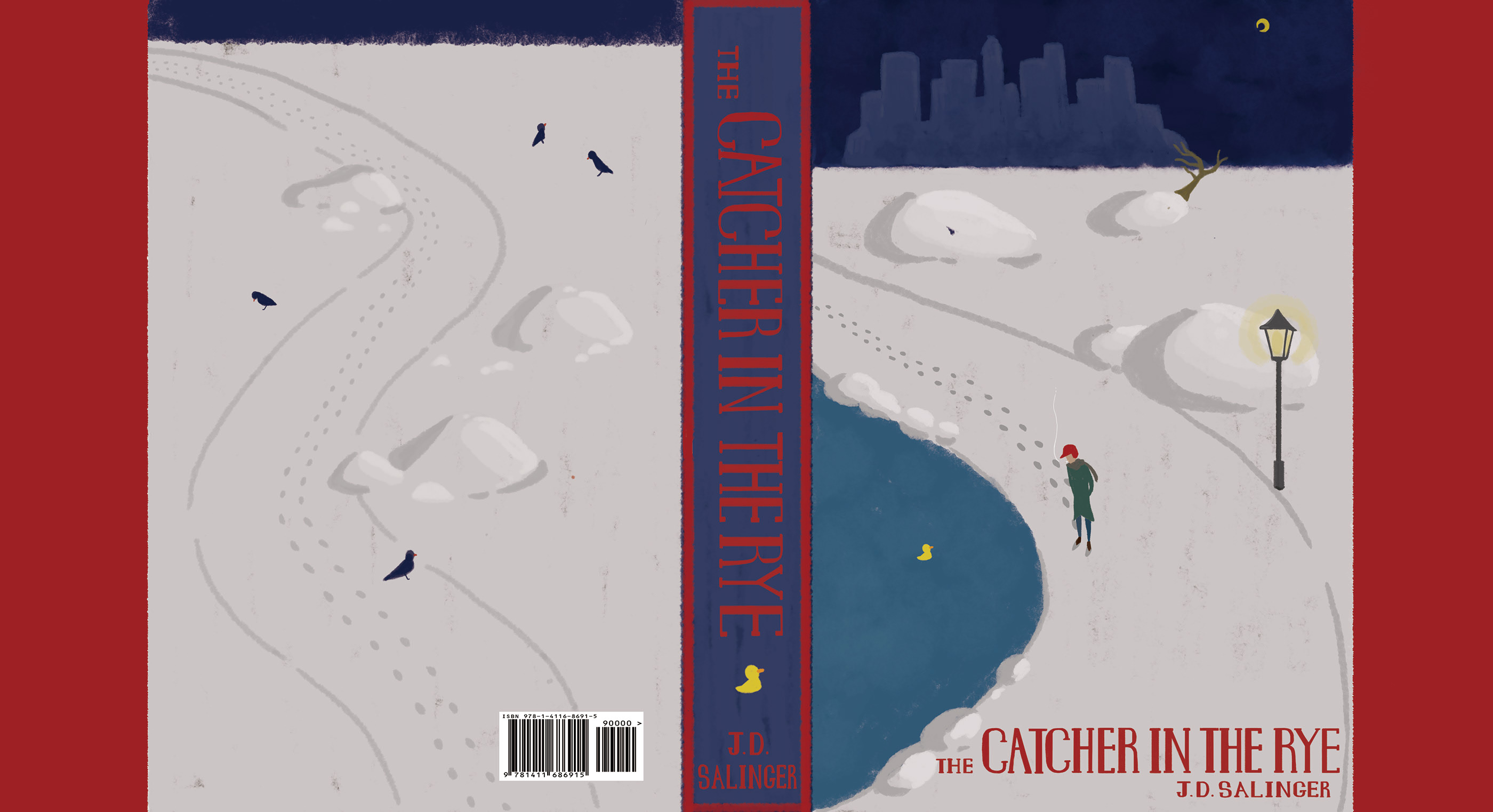 Book Cover Project - Catcher in the Rye on Behance on